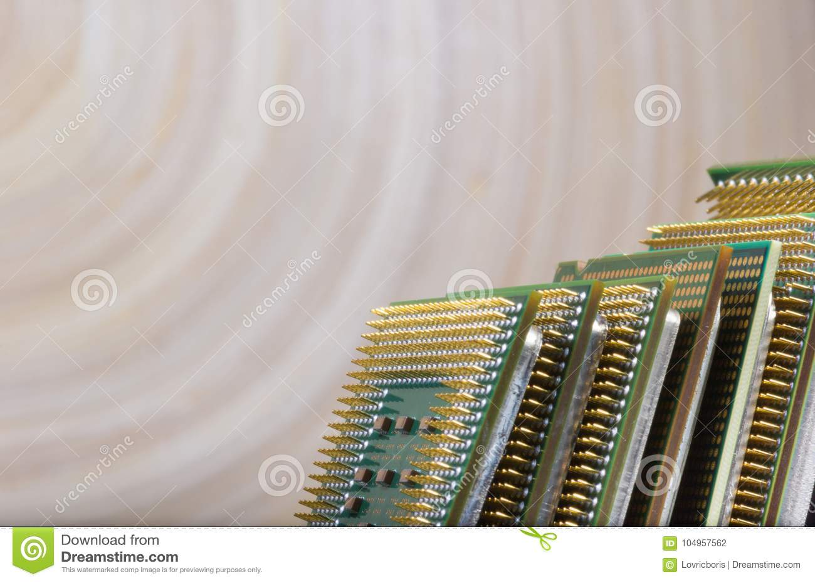 Микропроцессор - деталь крупного плана