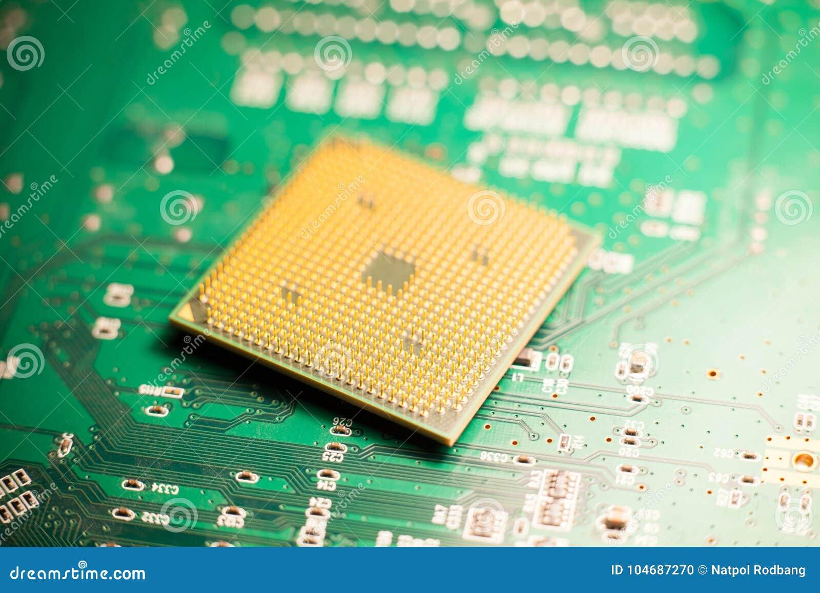 Микропроцессор или C.P.U. на монтажной плате