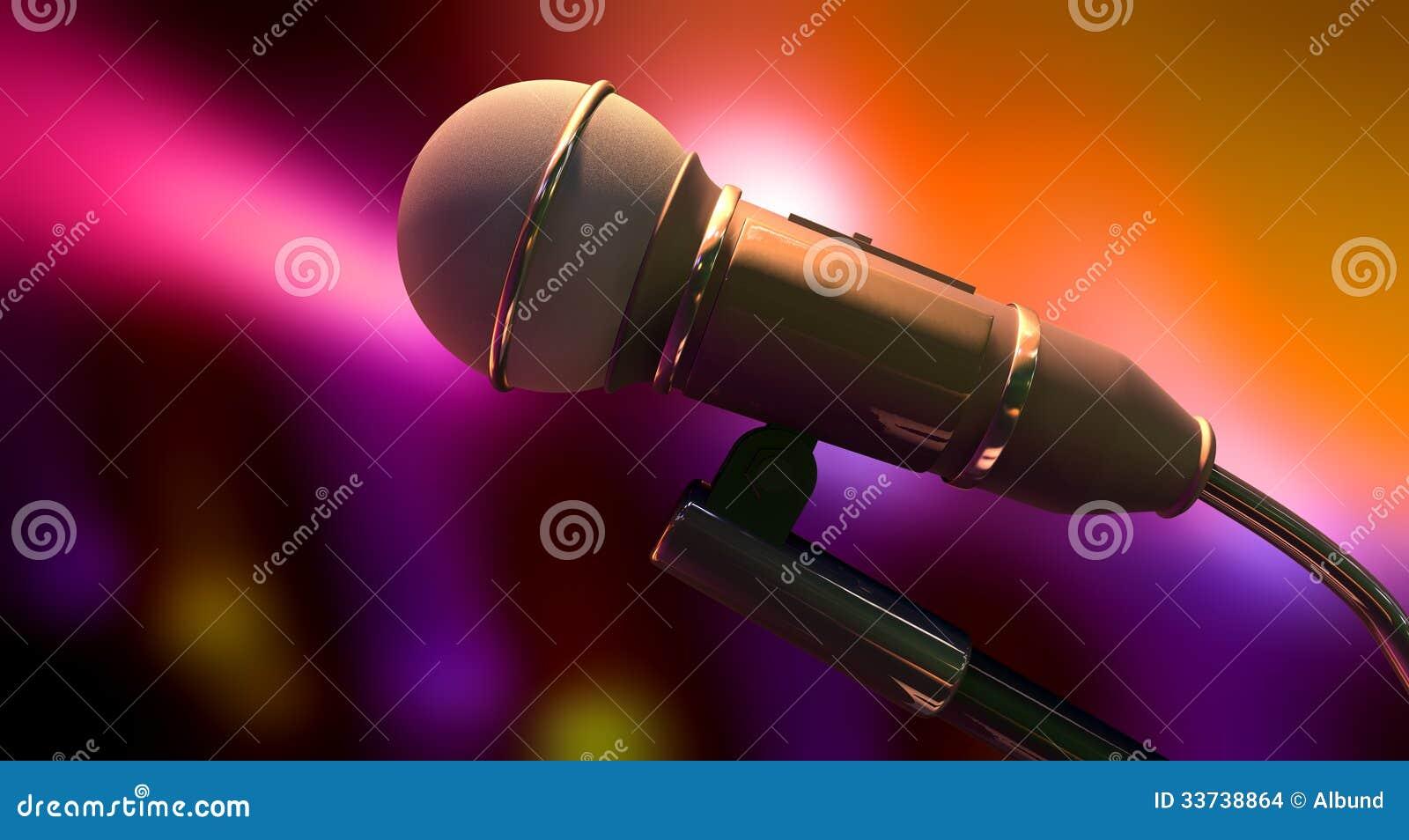 Микрофон на предпосылке цвета