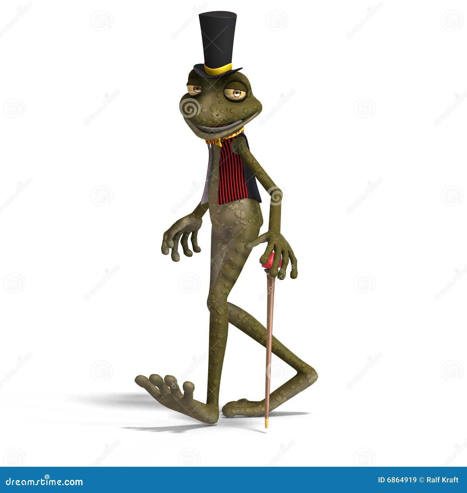 милая жаба toon зеленого цвета лягушки