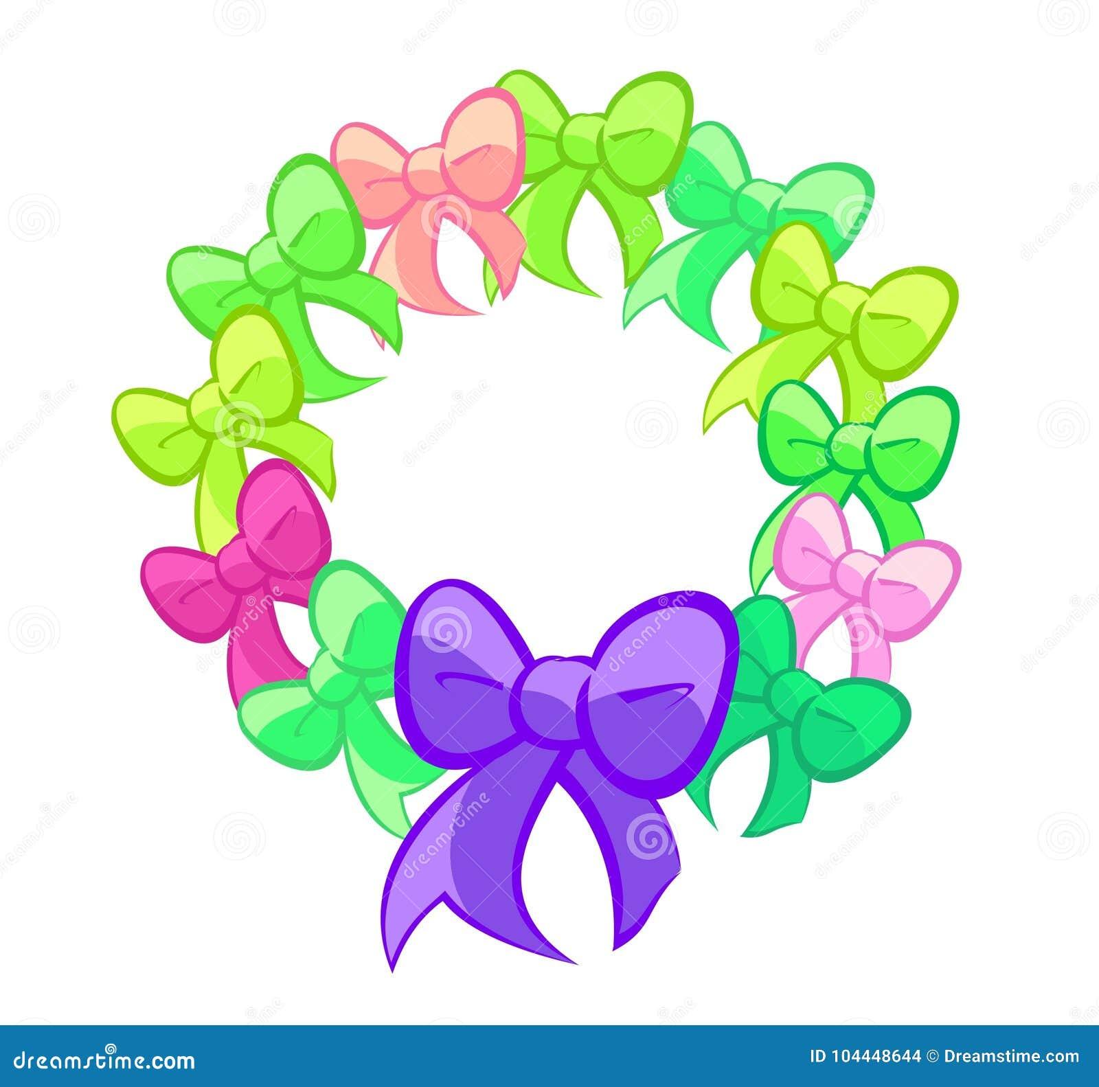 Милая зеленая и фиолет обхватывают венок