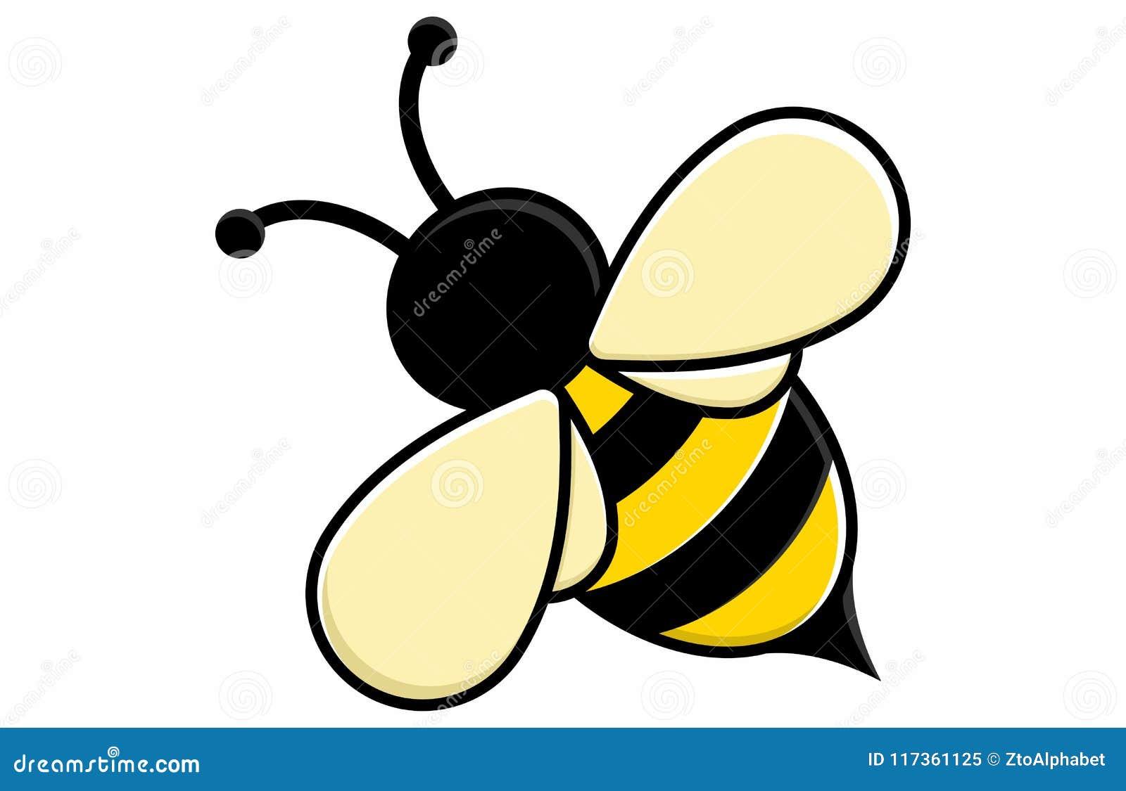 Милая концепция шаржа пчелы меда