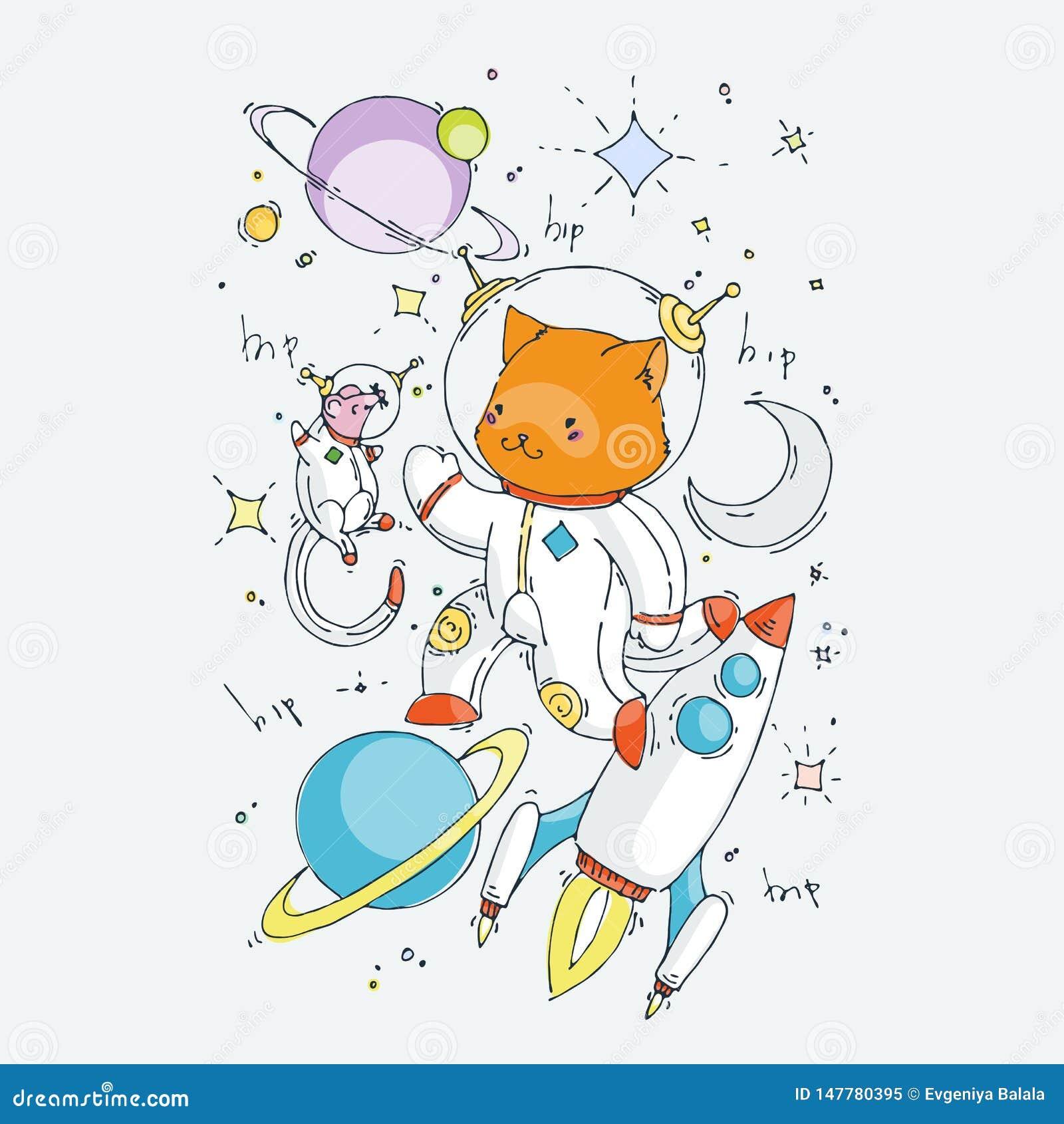 Милое животное мультфильма Иллюстрация искусства зажима вектора для детей конструирует, карты, печати, книжка-раскраски