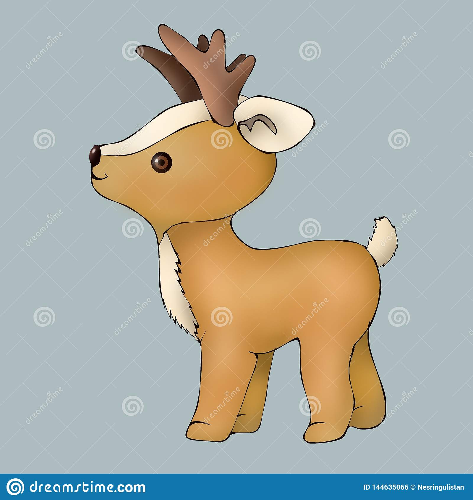 милые олени котенка игрушки животное оленей животный мир