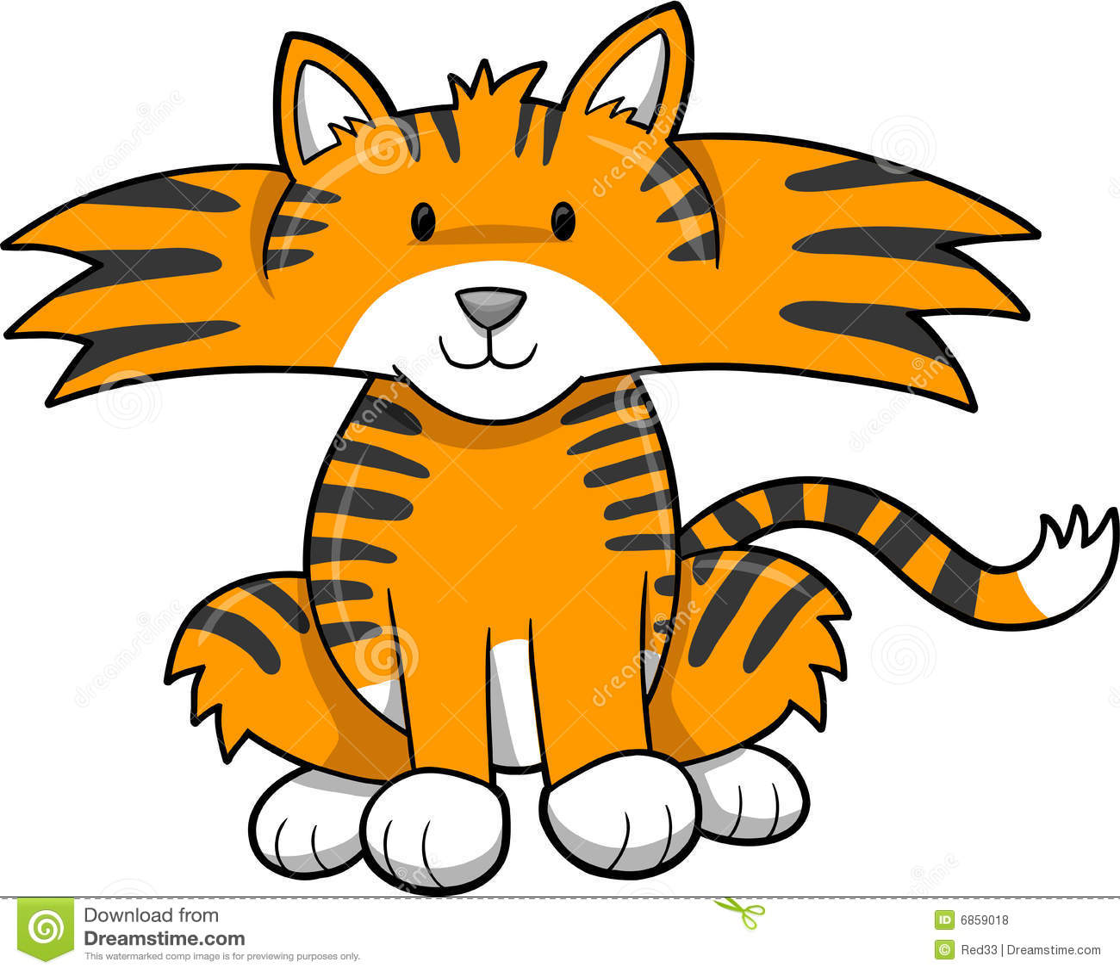 милый вектор тигра