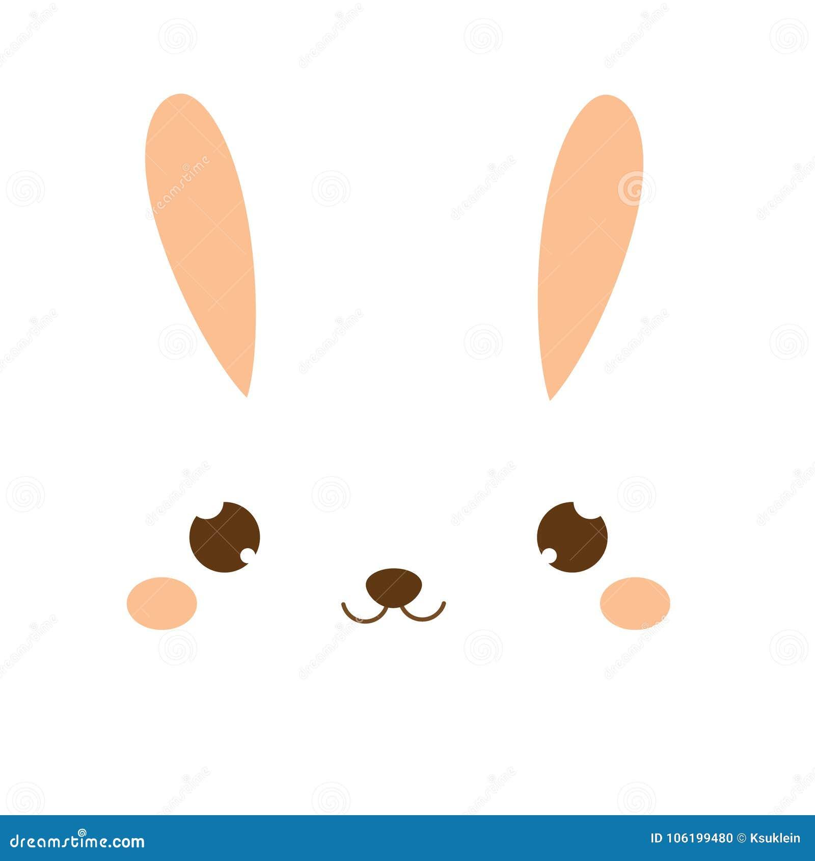 милый кролик Зайчик Kawaii зайцы немногая сладостное Сторона шаржа животная для моды детей, малышей и младенцев