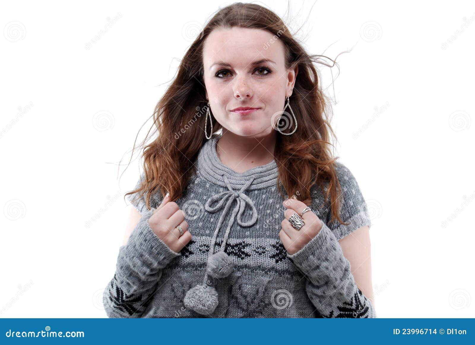 Милый портрет молодой женщины