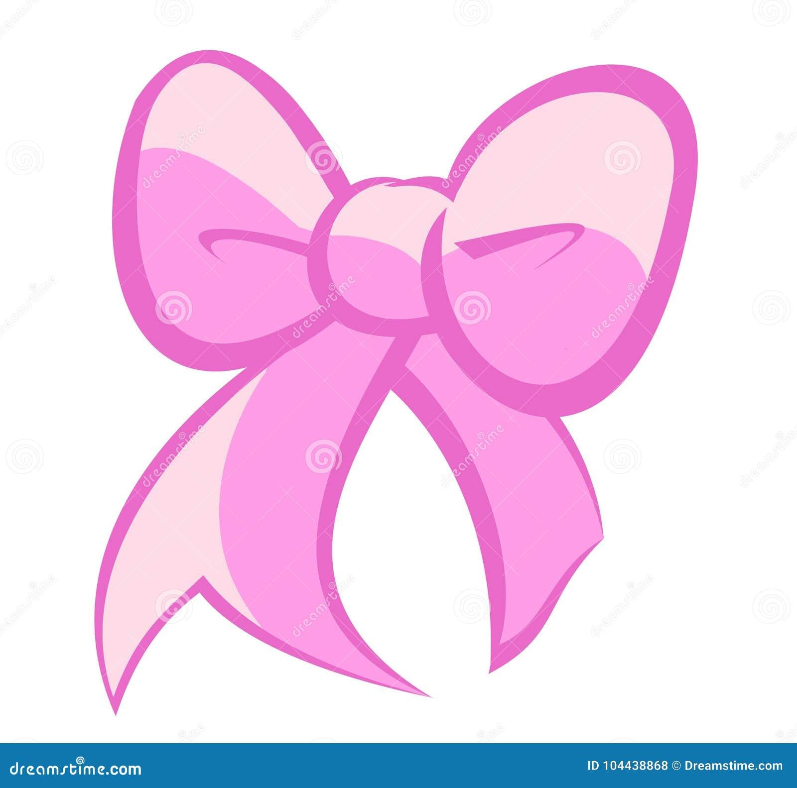 Милый светло-фиолетовый и розовый смычок