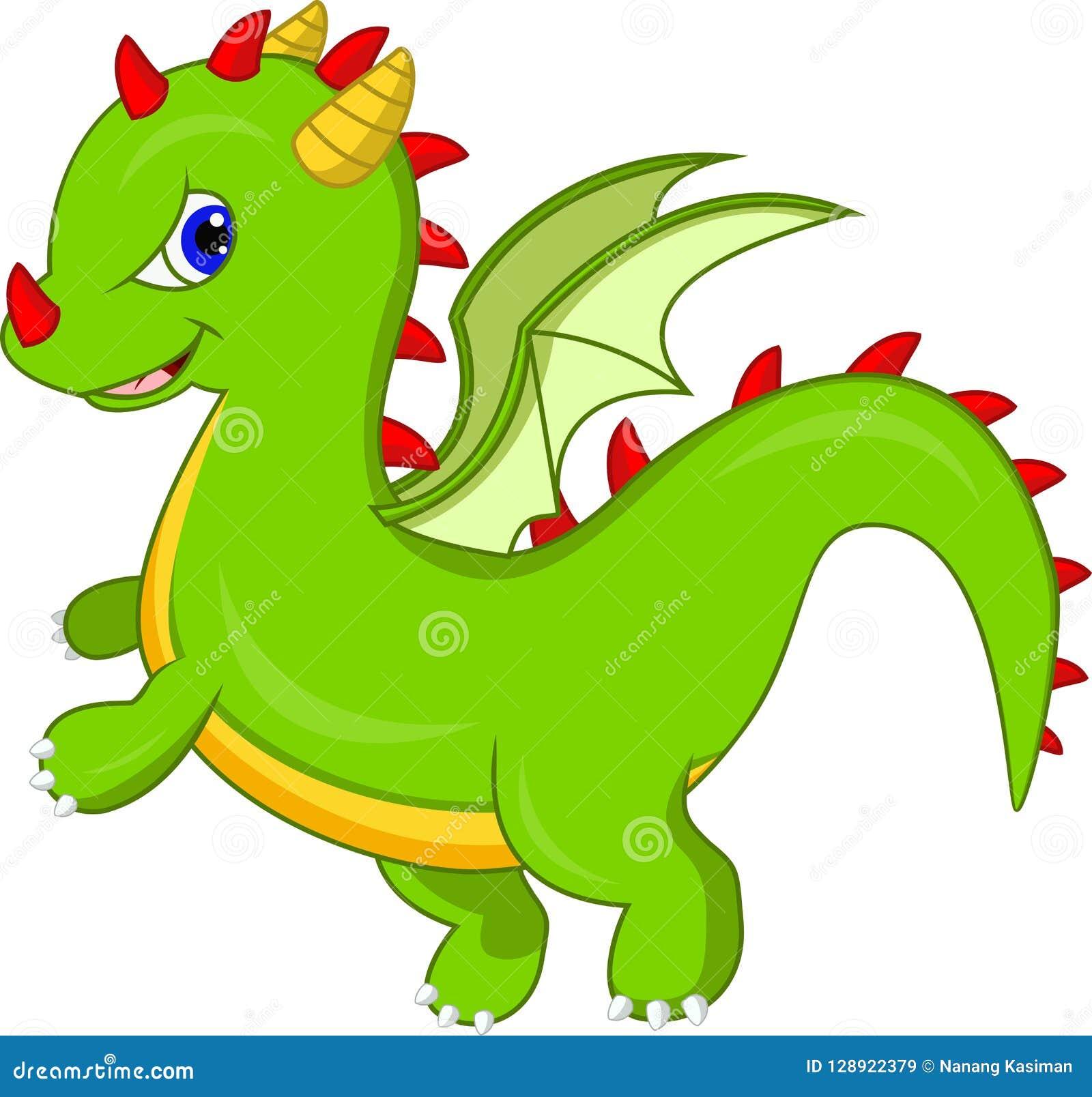 Милый шарж дракона