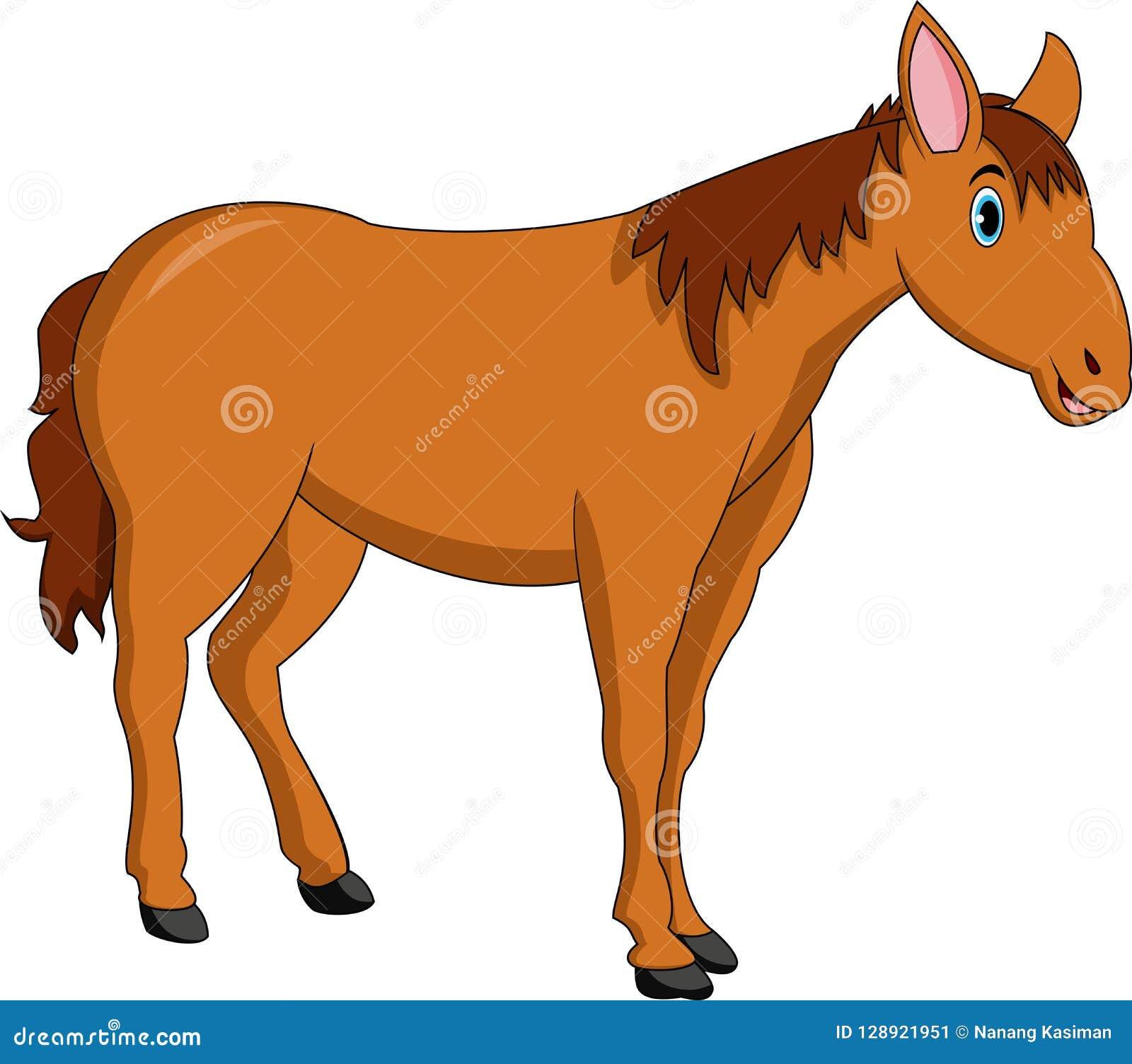 Милый шарж лошади