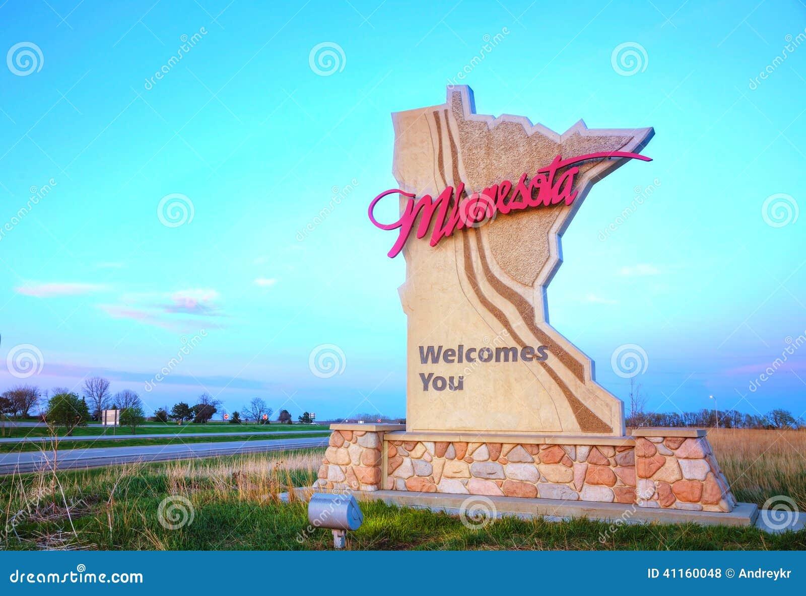 Минесота приветствует вас знак