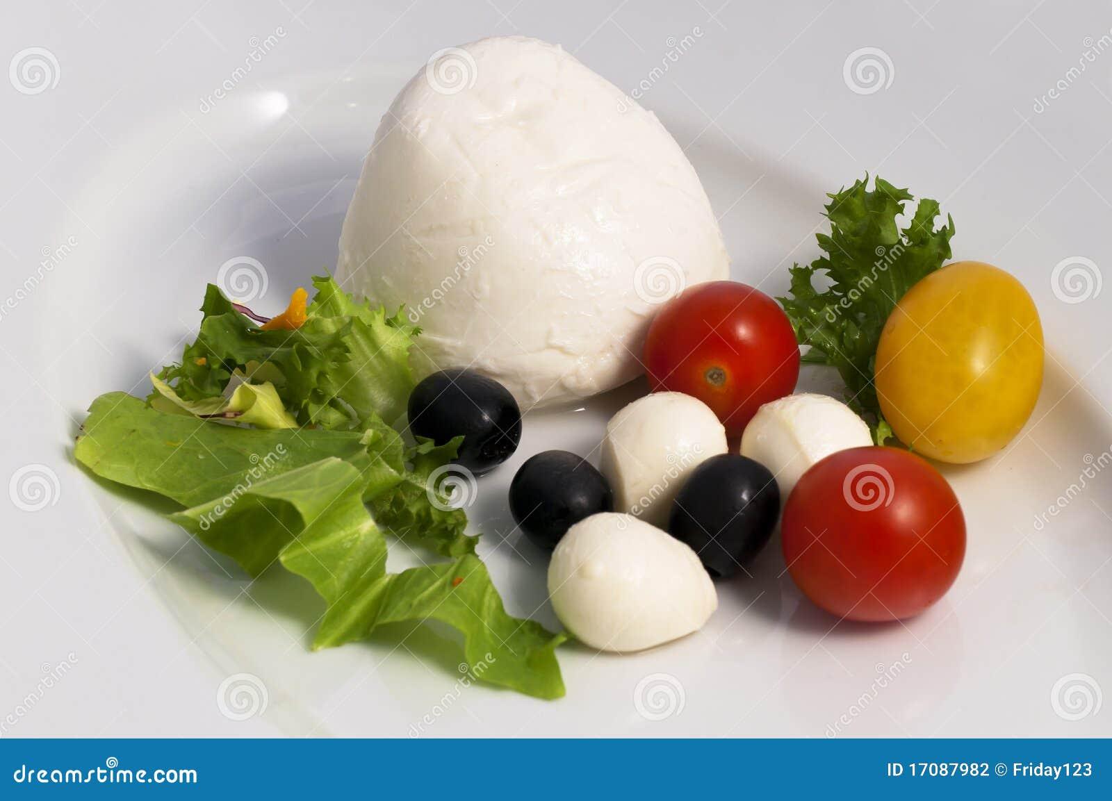 миниые томаты оливок mozzarella