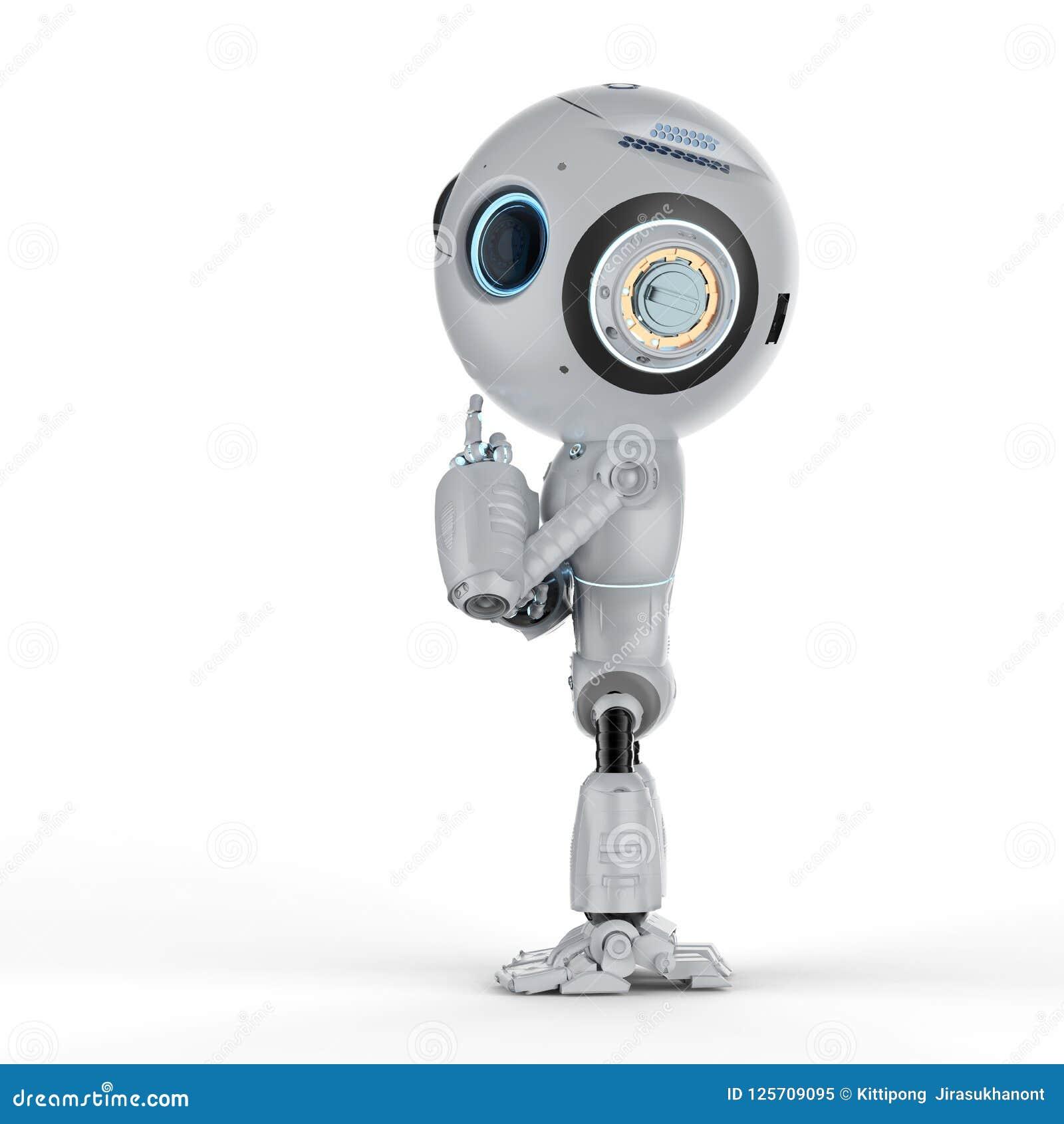 Мини робот думает