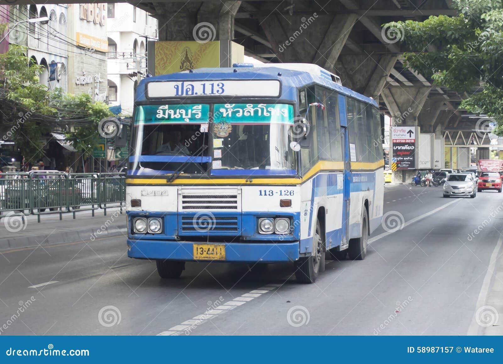 113 минута автомобиль шины Buri - Hua Lamphong голубой