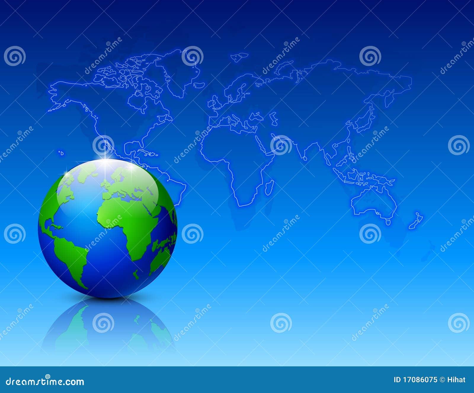 мир неона карты глобуса