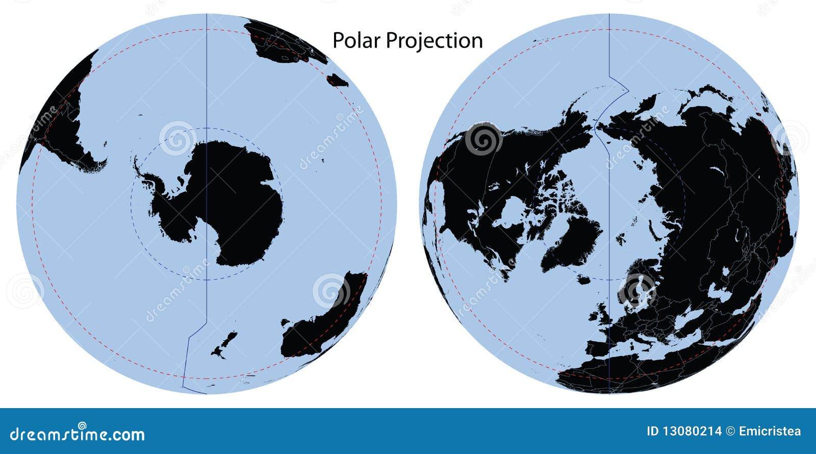 мир проекции карты приполюсный