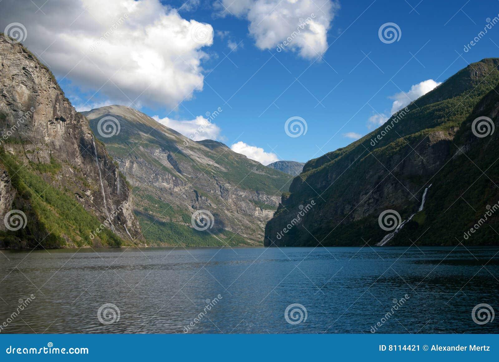 мир unesco Норвегии наследия geirangerfjord