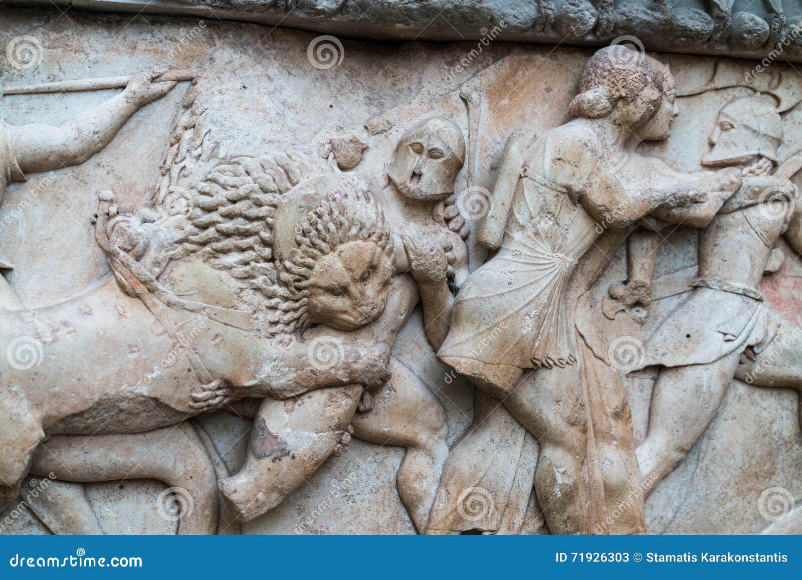 Мифология старых скульптур сброса греческая