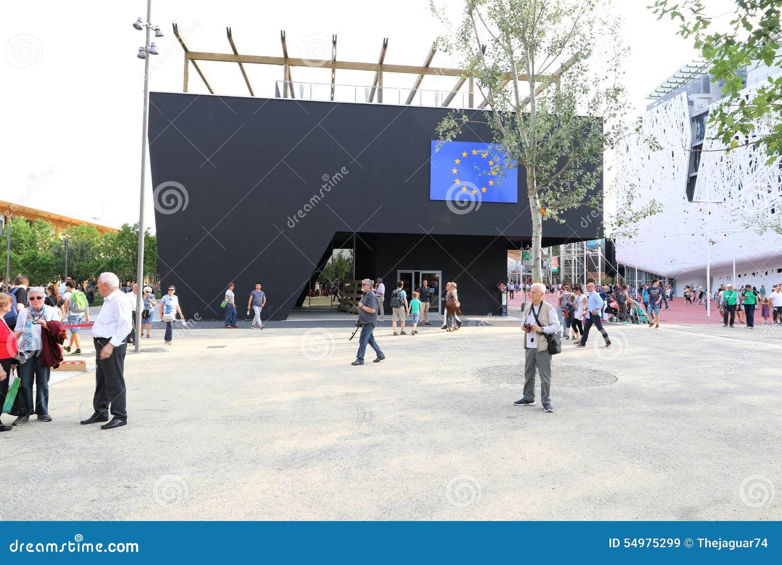 Милан павильона Европейского союза, экспо 2015 Милана