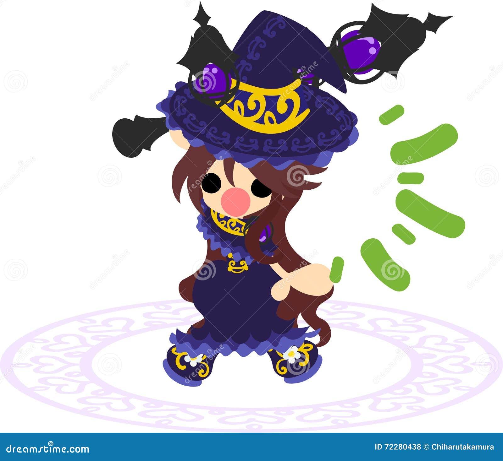 Download Милая ведьма иллюстрация штока. иллюстрации насчитывающей деформация - 72280438
