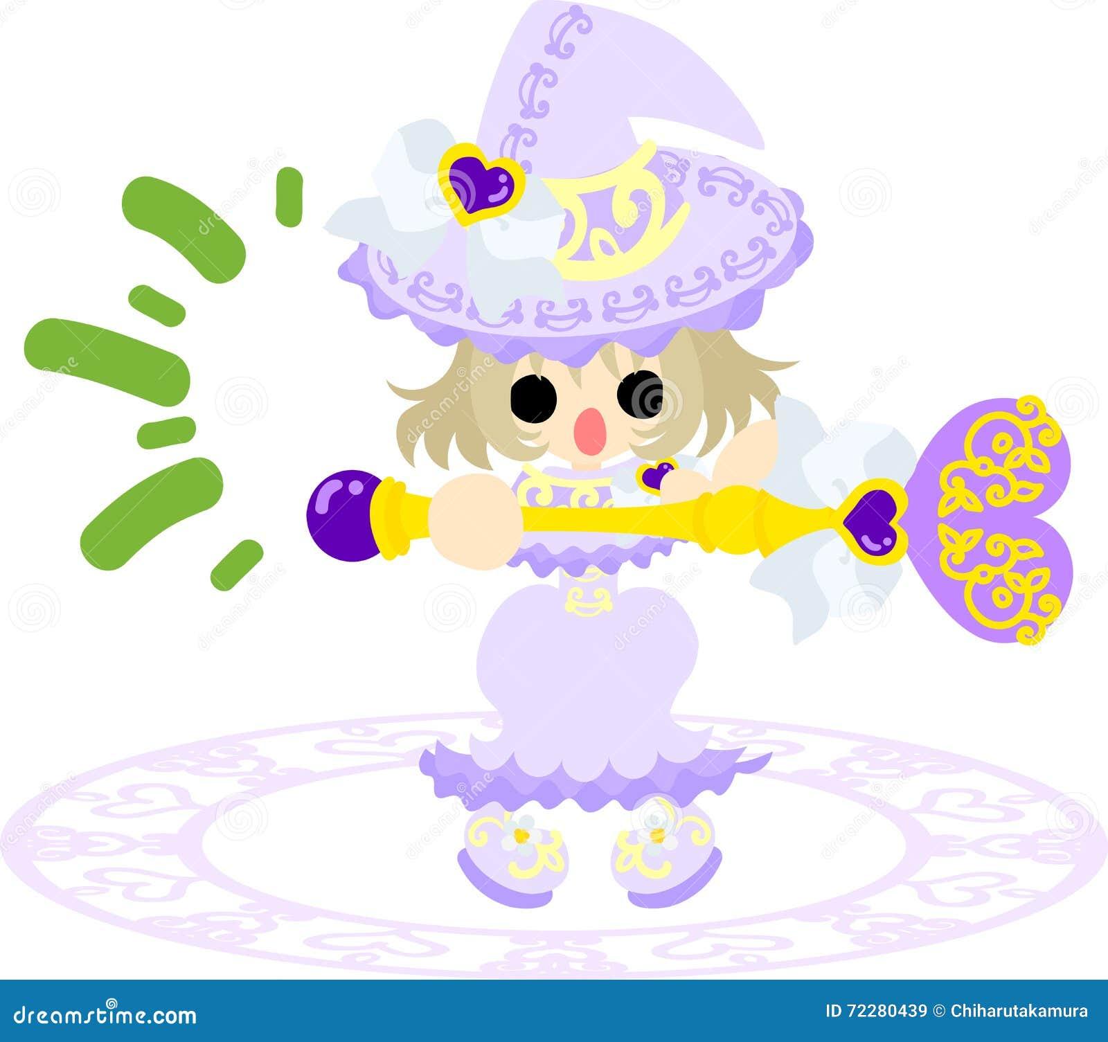 Download Милая ведьма иллюстрация вектора. иллюстрации насчитывающей художничества - 72280439
