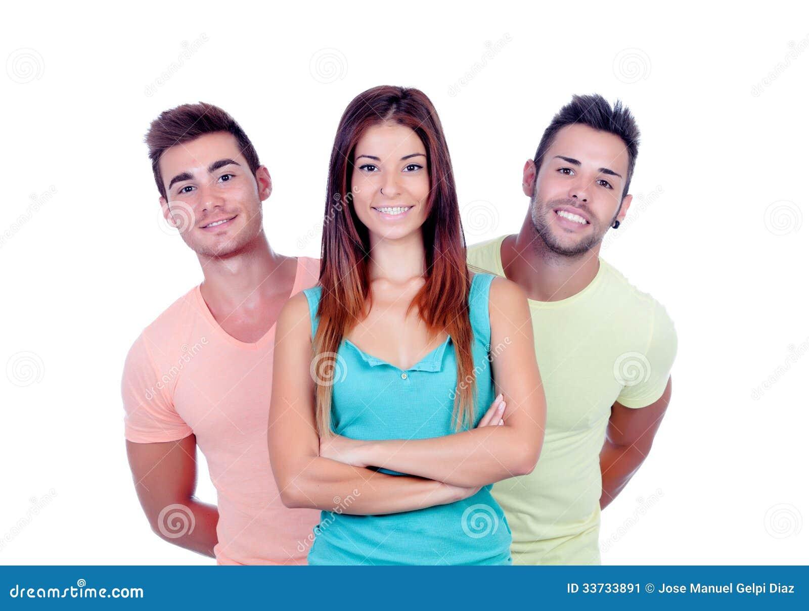 Милая девушка с 2 красивыми мальчиками