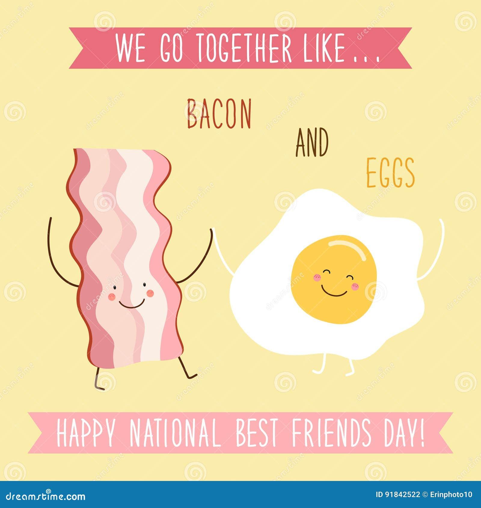 Милая необыкновенная национальная карточка дня лучших другов как смешной персонажи из мультфильма и письменный текст руки нарисов