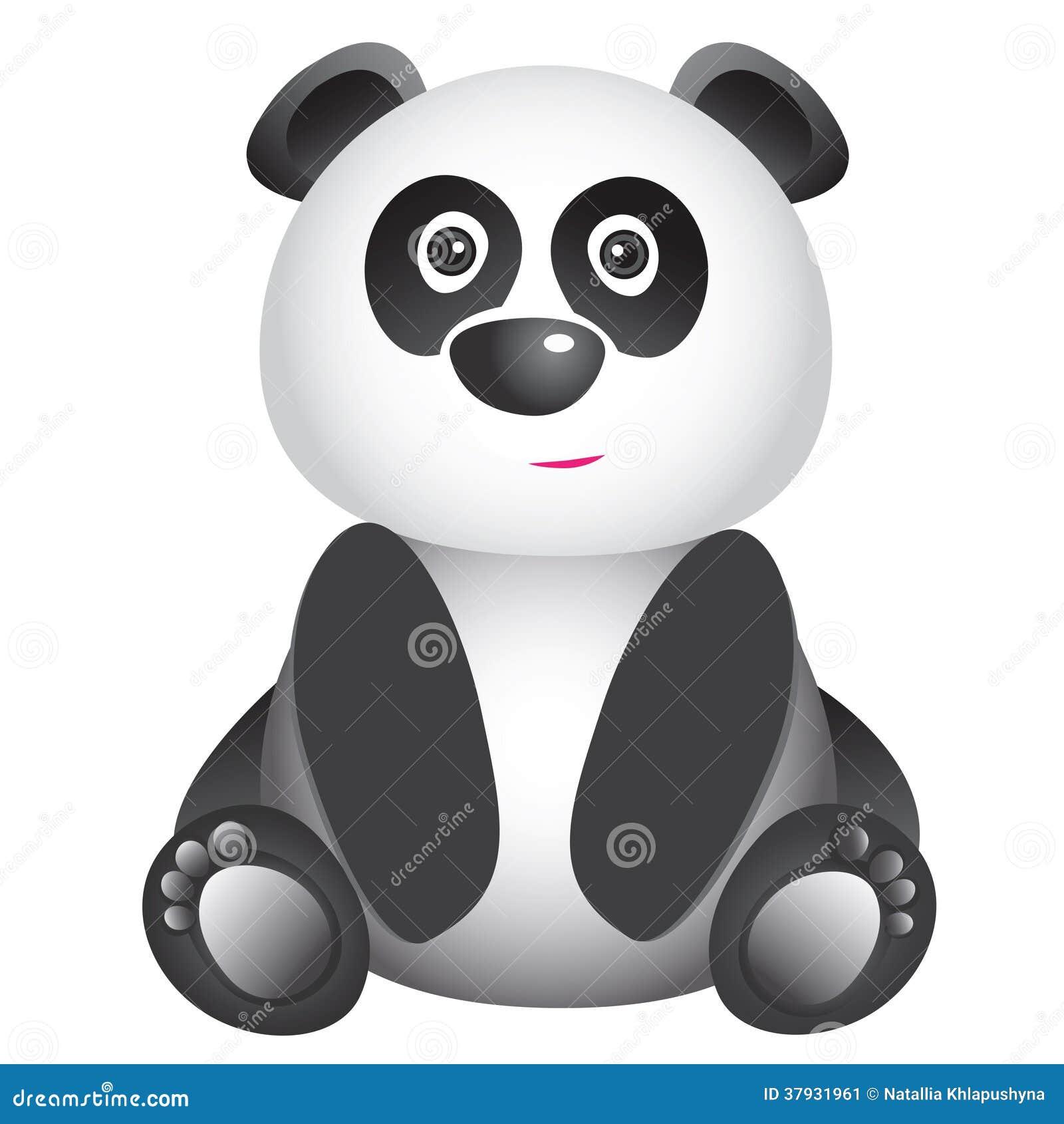 Милая усмехаясь панда