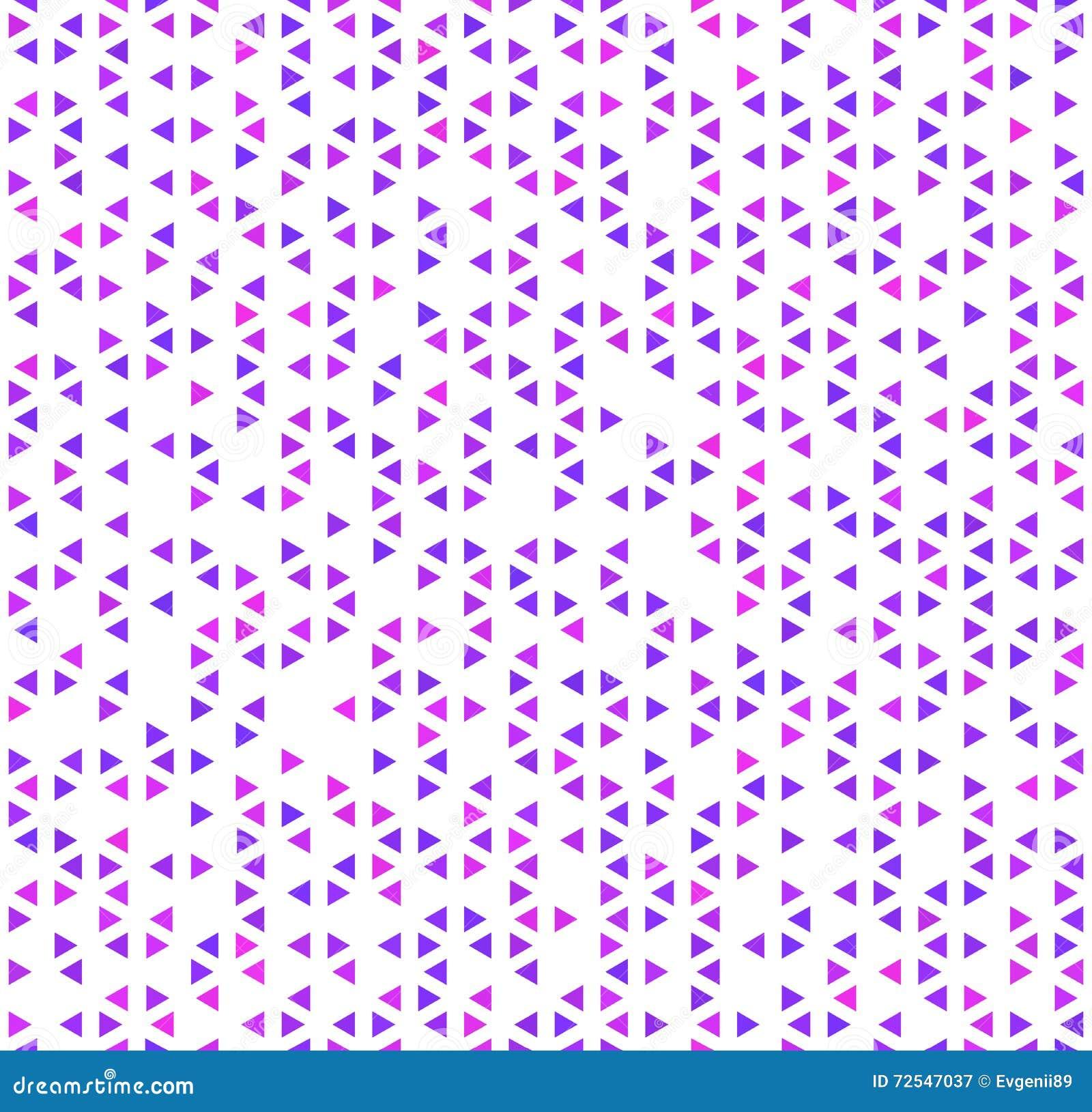 Милые фиолетовые треугольники на белизне, абстрактной безшовной картине