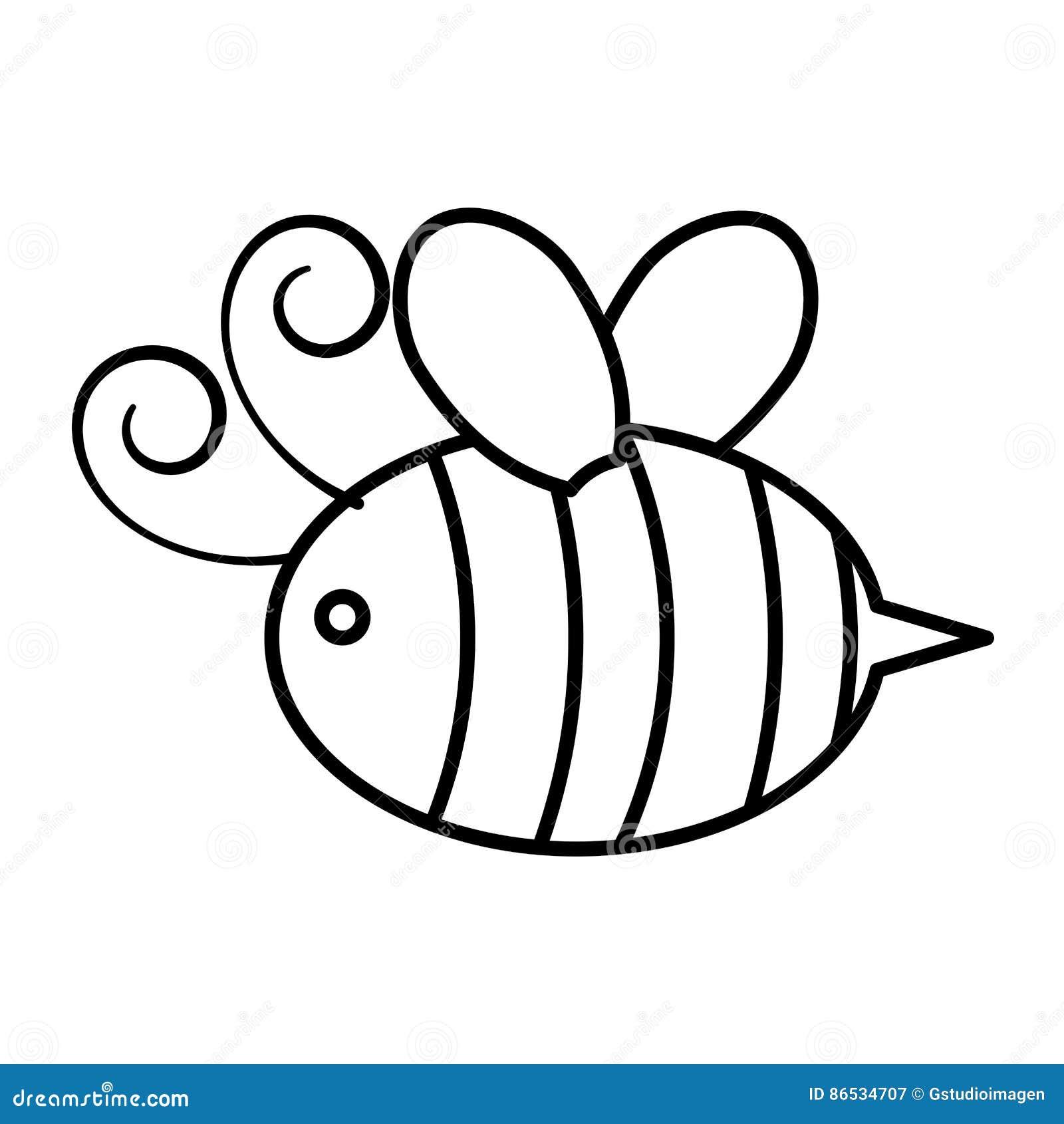 Милый значок летания пчелы