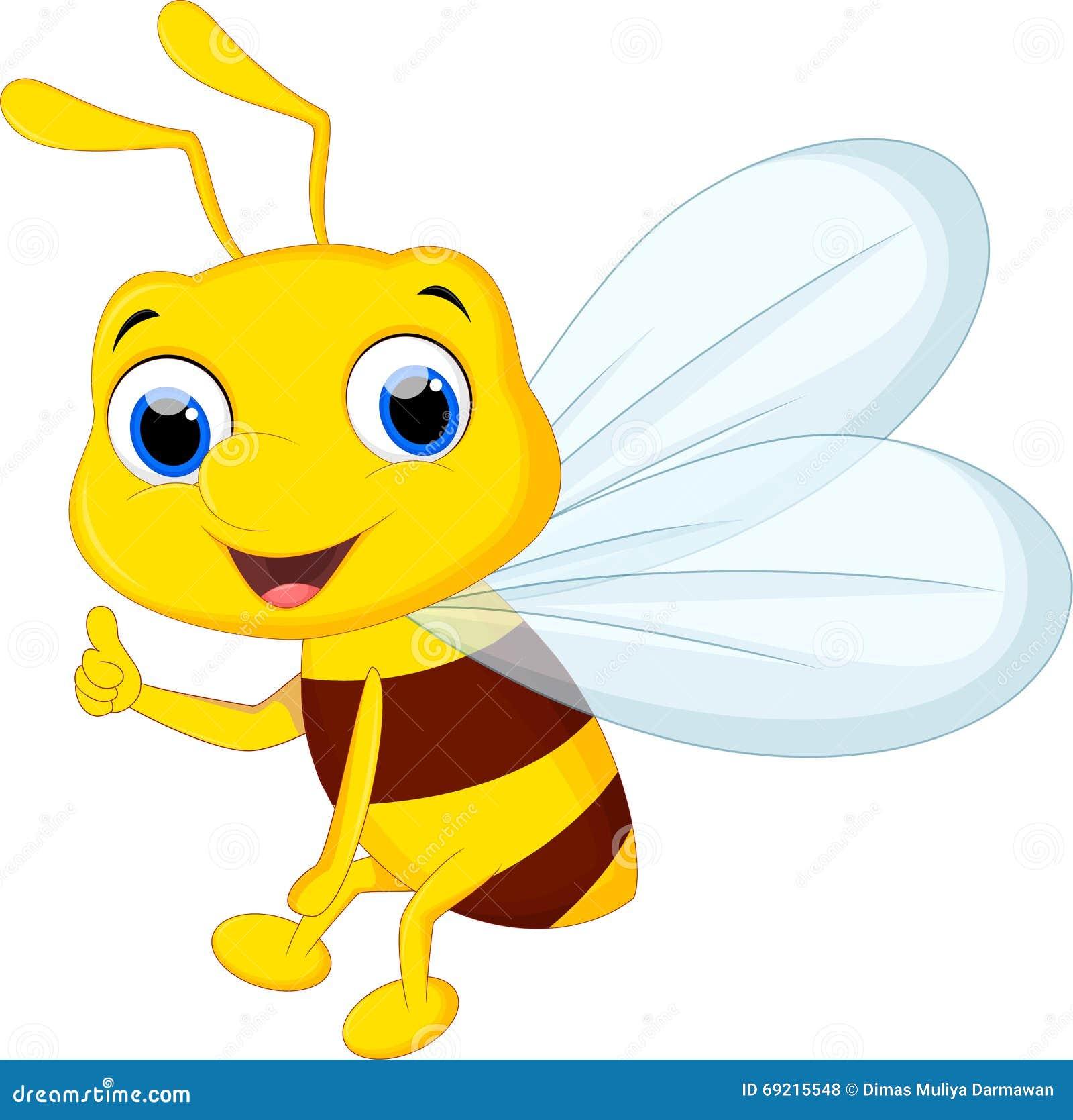 Милый шарж пчелы