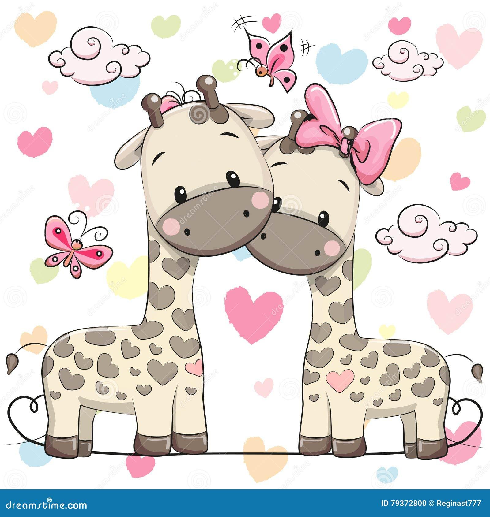 2 милых жирафа