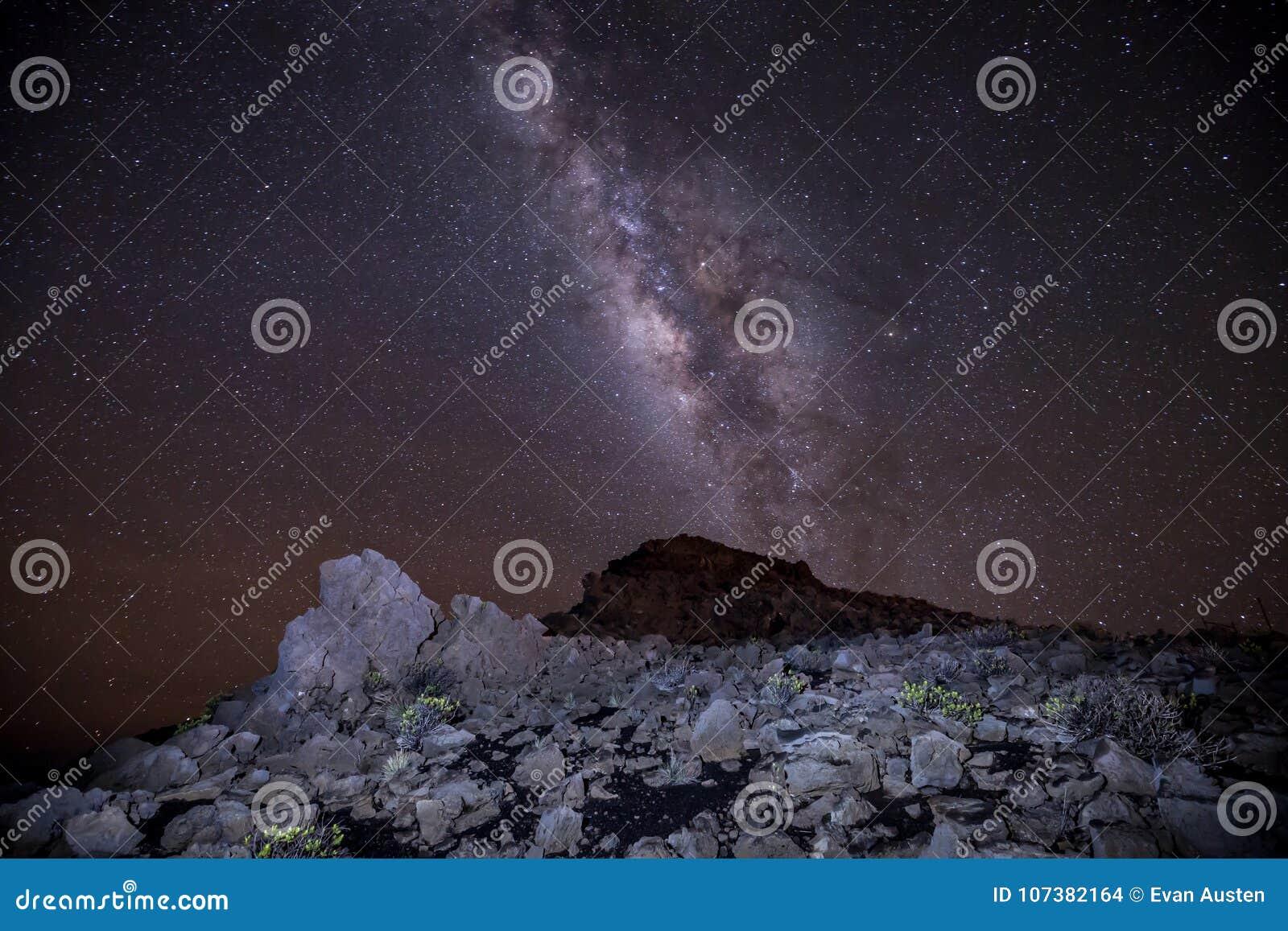 Млечный путь и звезды Haleakala