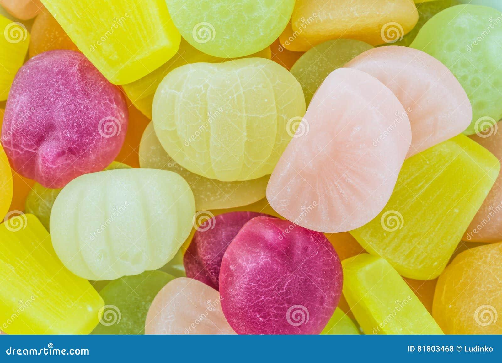Много конфета красочного плодоовощ камедеобразная