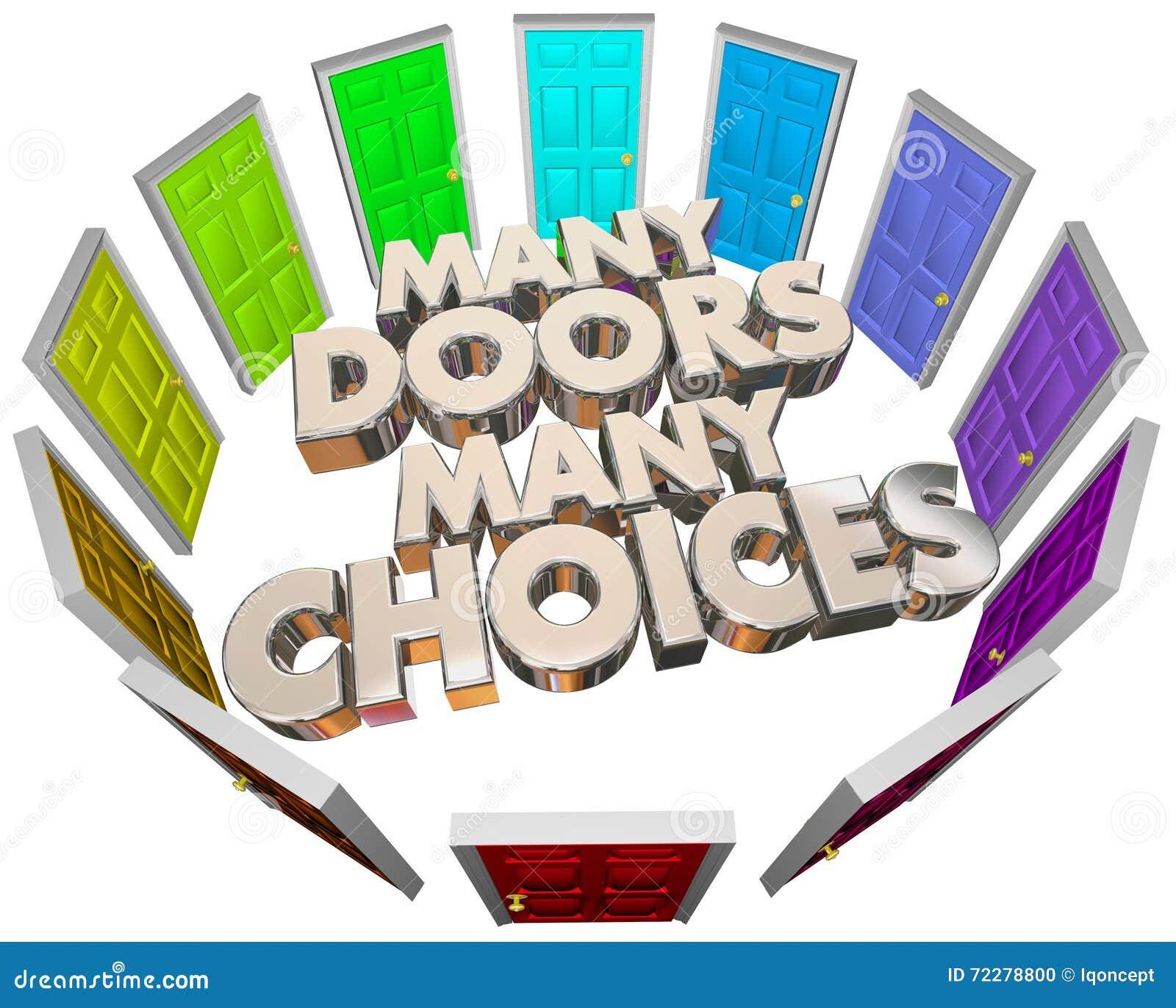 Download Много путей вариантов дверей выборов дверей различных Иллюстрация штока - иллюстрации насчитывающей нерешительность, запутанность: 72278800