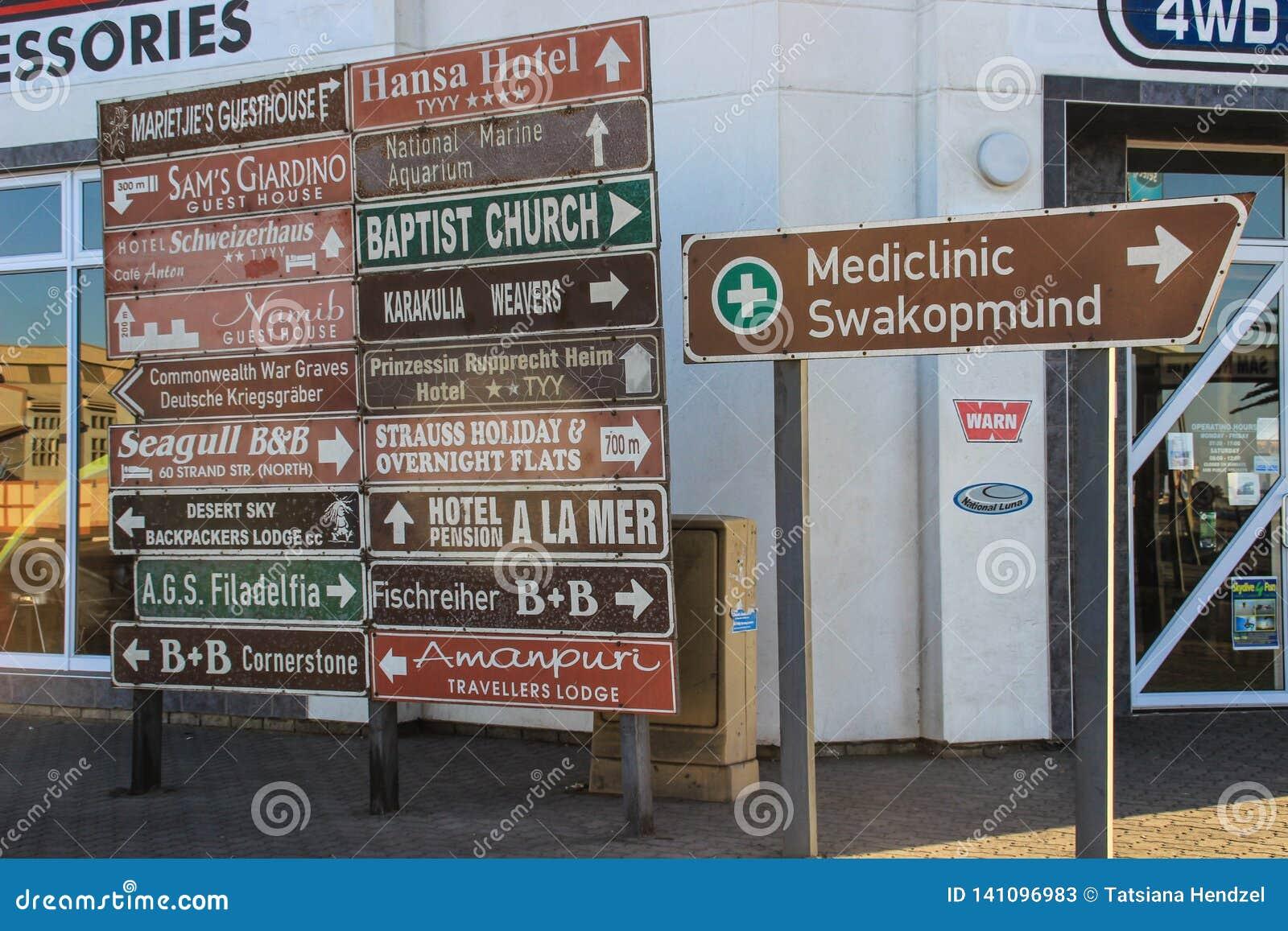 Много различные знаки направления