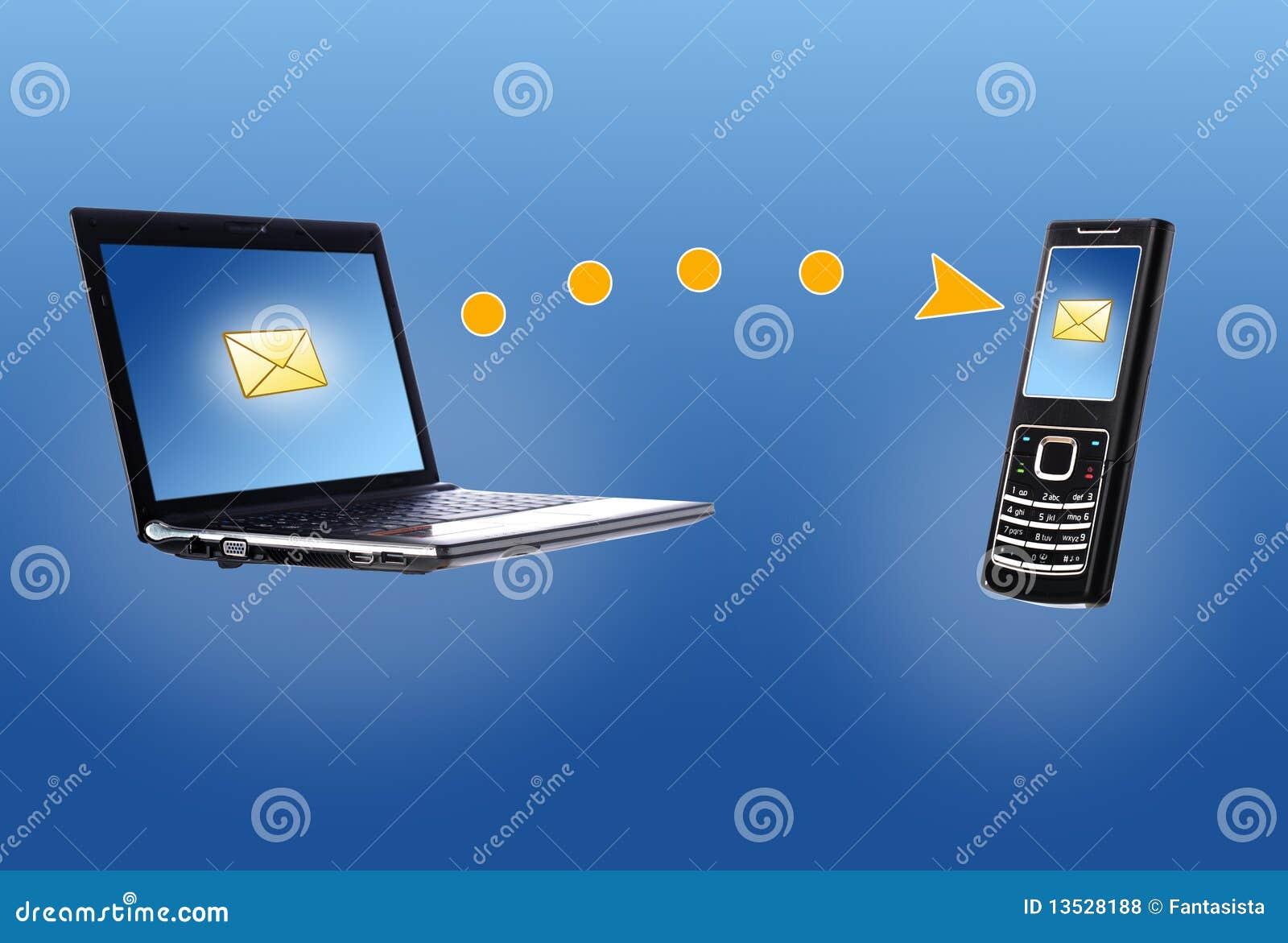 мобильный телефон компьтер-книжки принципиальной схемы связи