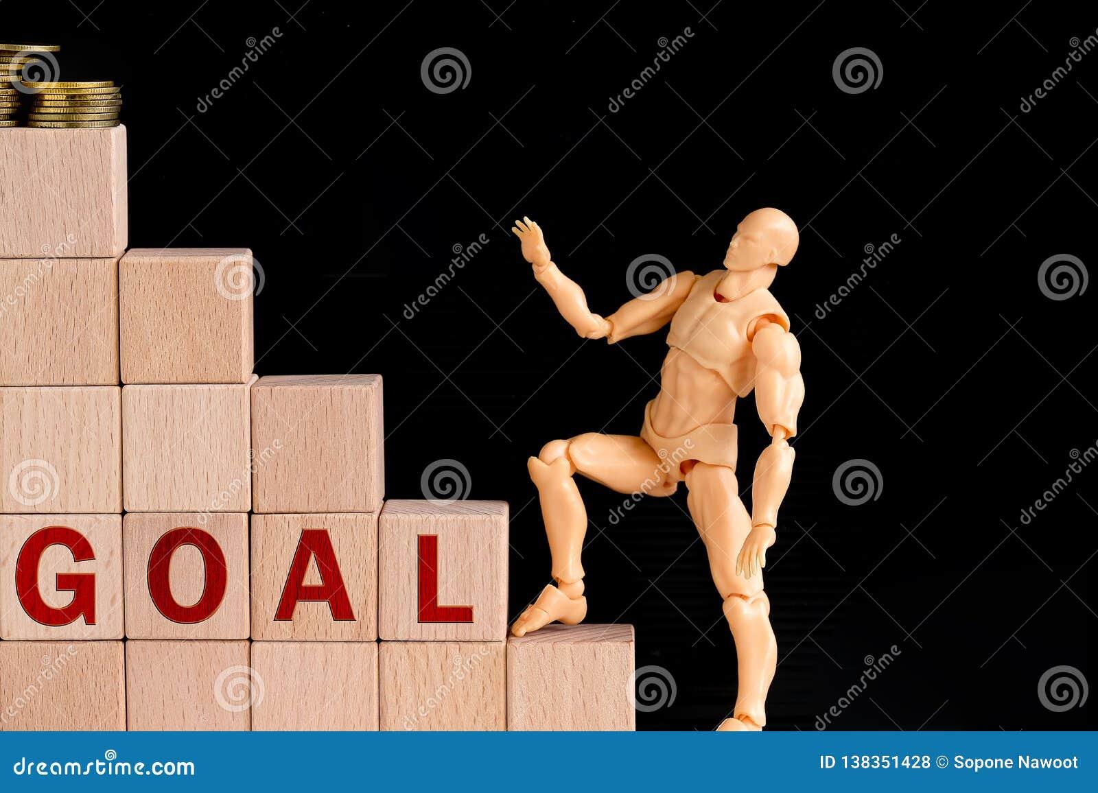 модель человека получая вверх шаги