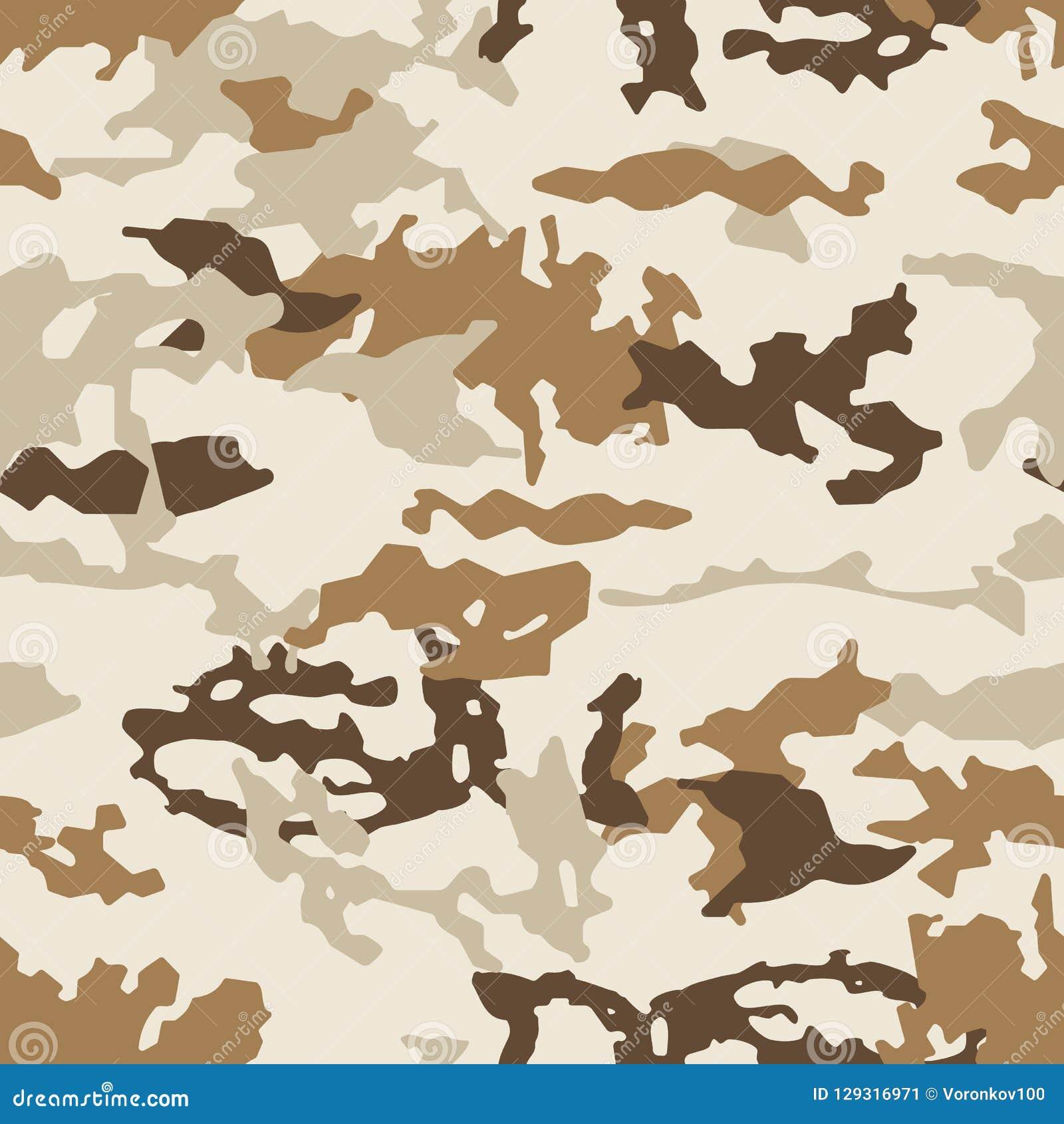 Модная картина камуфлирования, безшовный вектор Печать Millatry текстура одежд, маскировка охотника