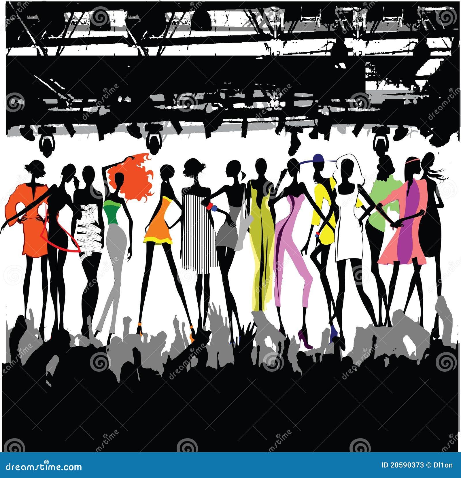 модный парад толпы
