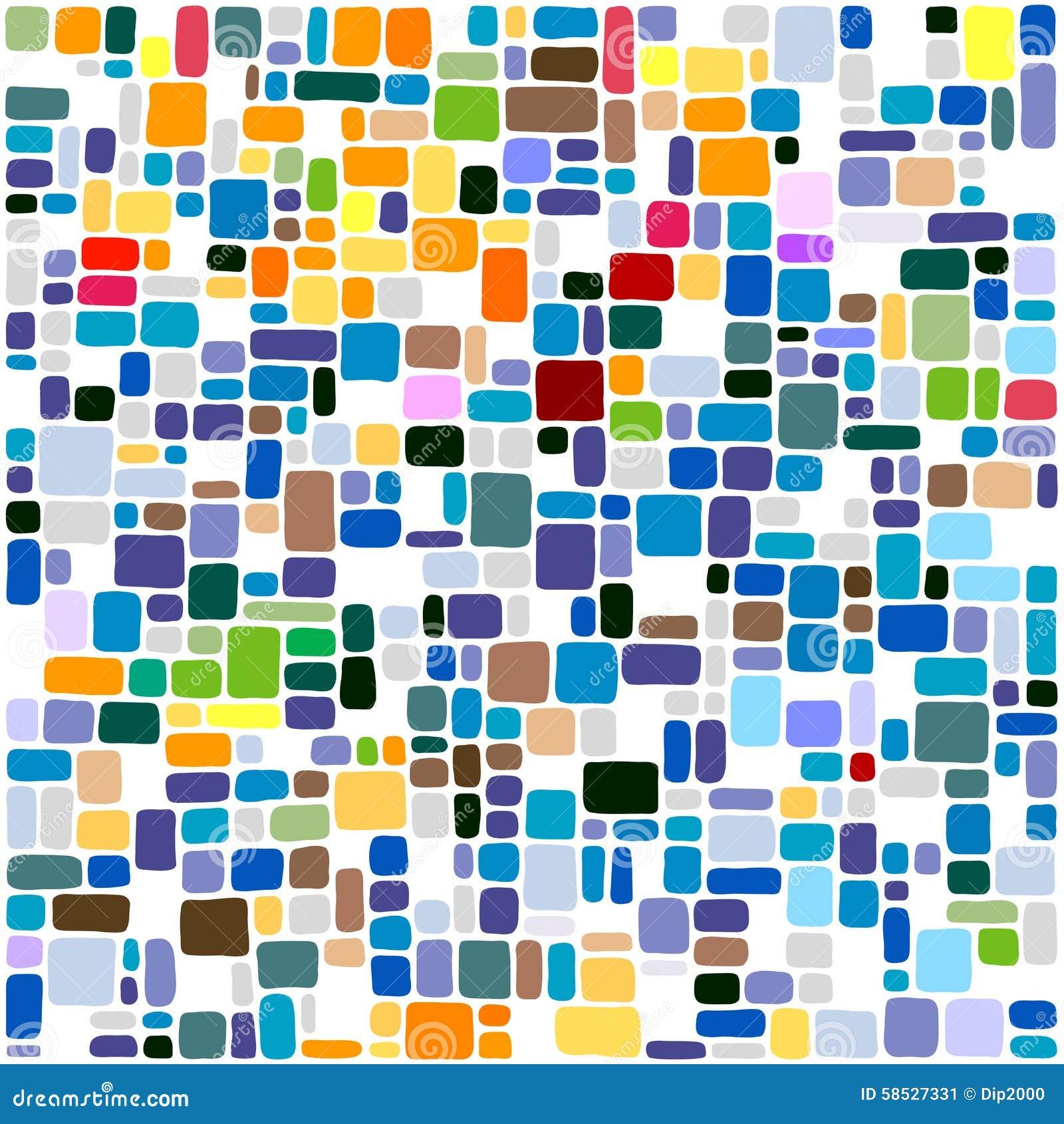 Мозаика абстрактной предпосылки плиток красочная