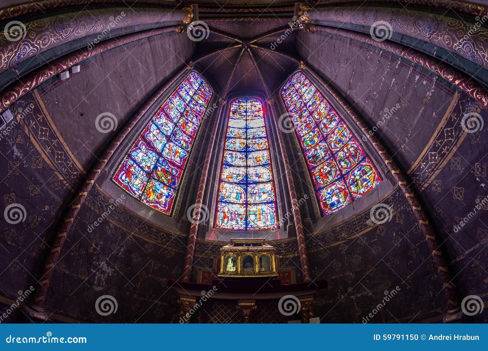 Мозаика в соборе Буржа