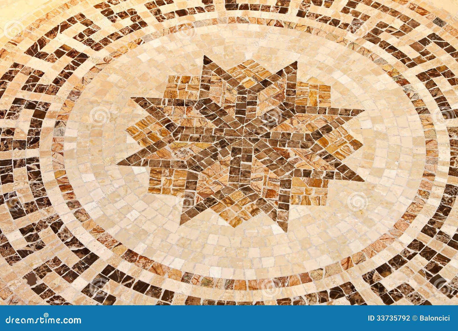 Мозаика звезды пола