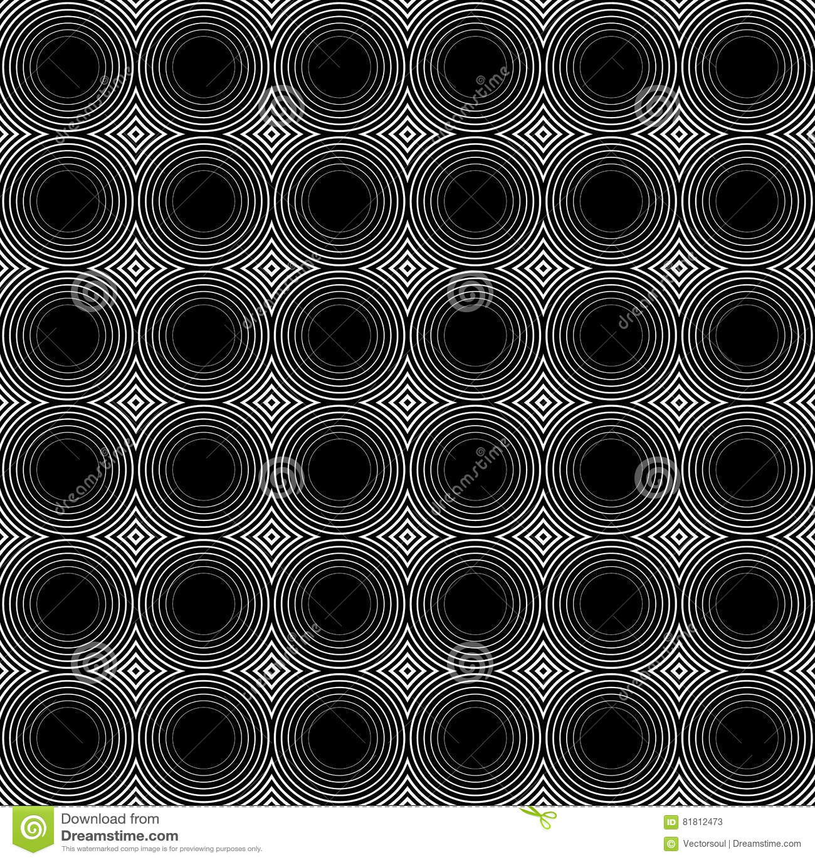 Мозаика картины кругов repeatable - безшовной предпосылки