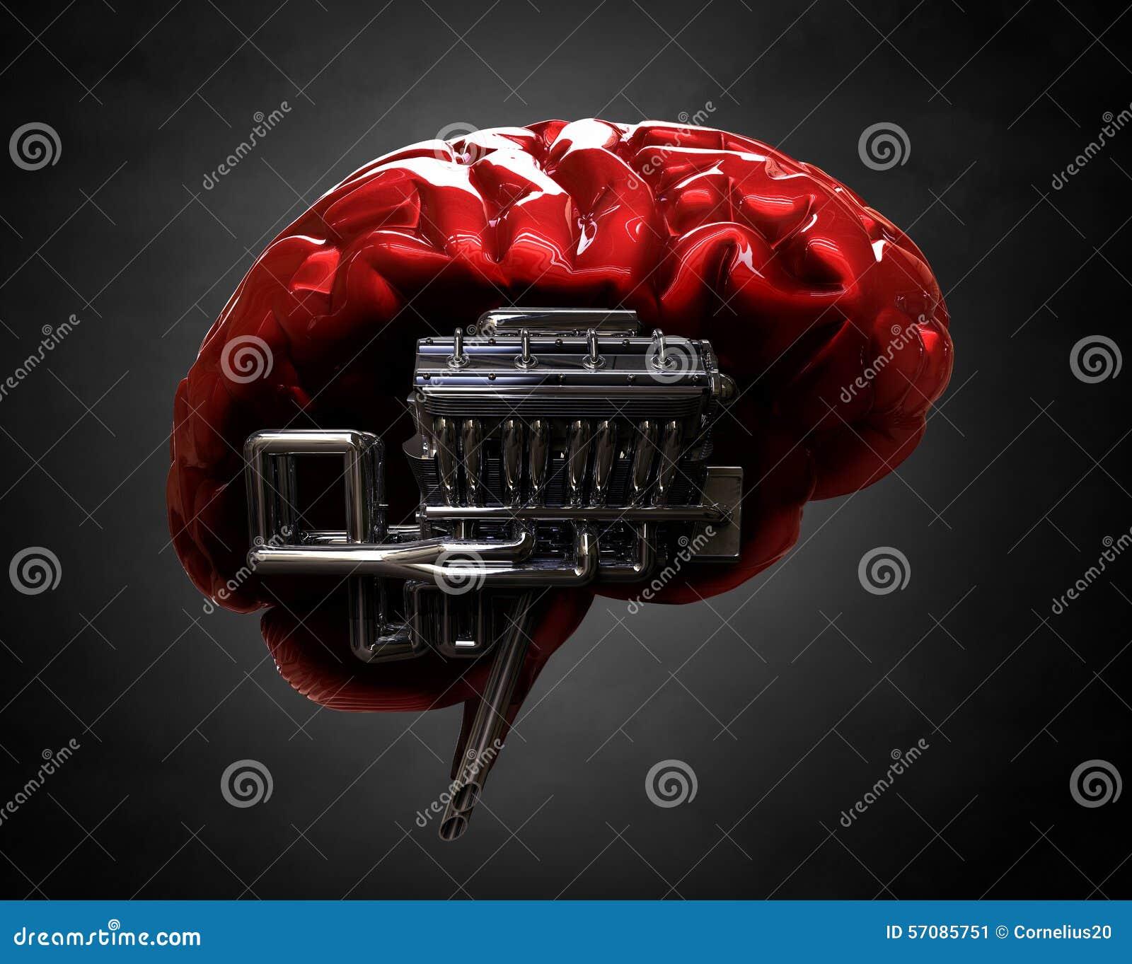 Мозг и двигатель v8