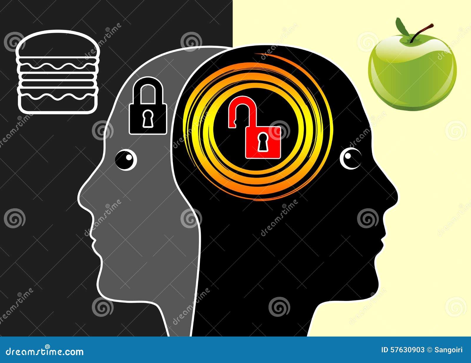 Мозг или высококалорийная вредная пища