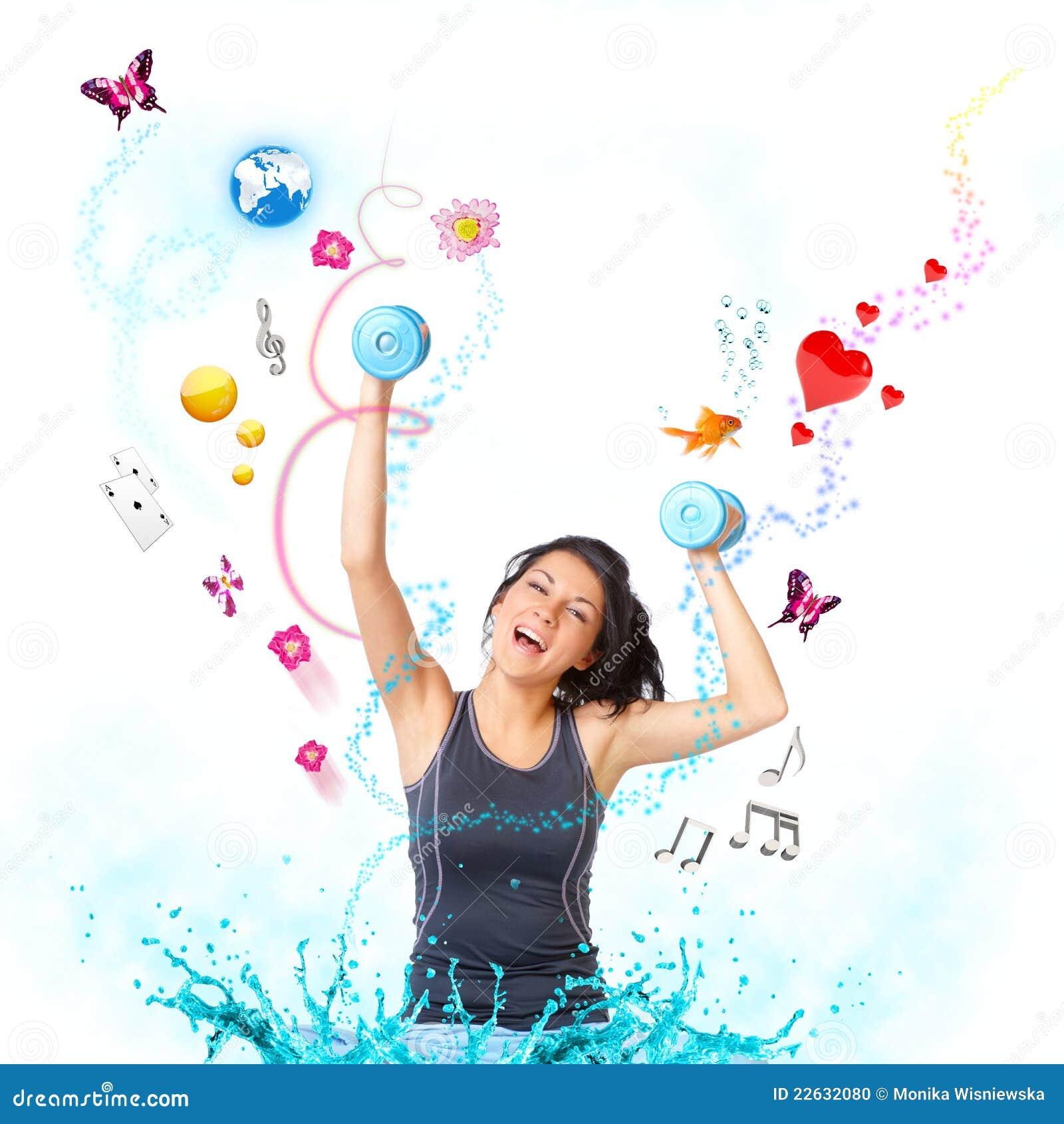 Молодая счастливая женщина