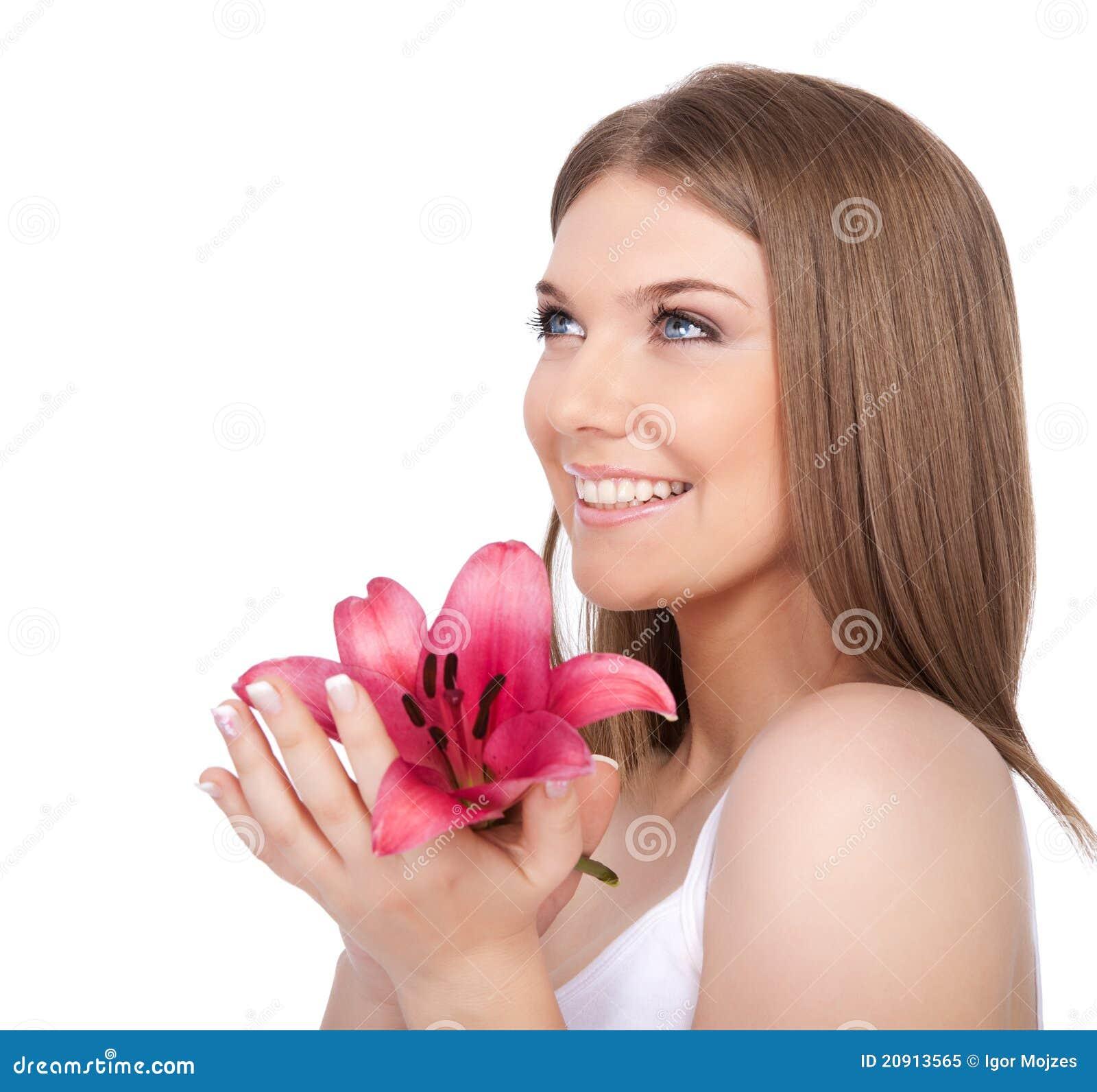 Молодой портрет женщины спы