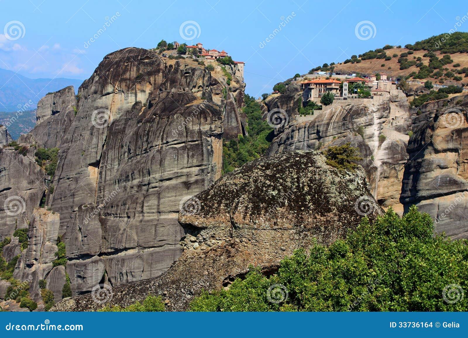 Монастыри Meteora в Греции