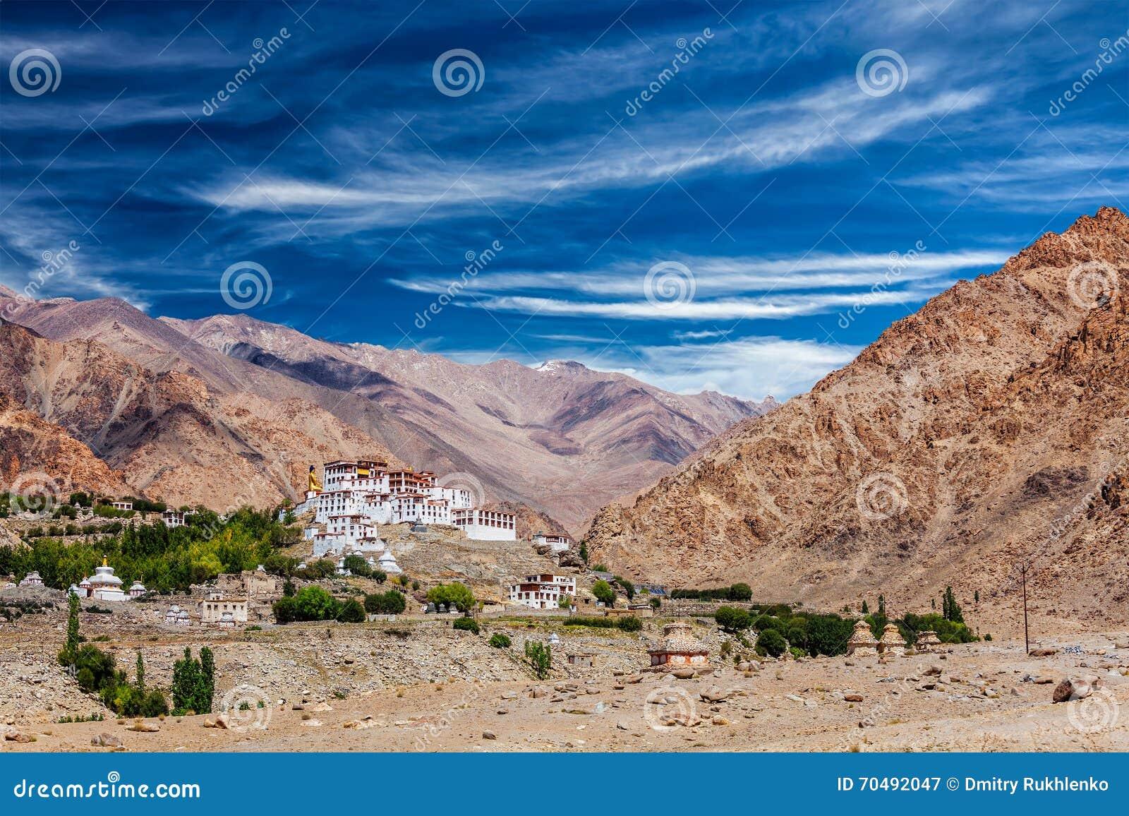 Монастырь Likir Gompa тибетский буддийский в Гималаях